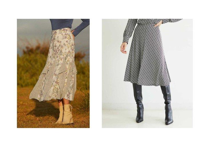 【JILLSTUART/ジルスチュアート】のミックススフラワープリントスカート&【MICHEL KLEIN/ミッシェルクラン】の【セットアップ対応/洗える】モノグラムプリントフレアスカート スカートのおすすめ!人気、レディースファッションの通販 おすすめファッション通販アイテム レディースファッション・服の通販 founy(ファニー) ファッション Fashion レディース WOMEN スカート Skirt セットアップ Setup スカート Skirt Aライン/フレアスカート Flared A-Line Skirts シフォン ジョーゼット フェミニン プリント ボタニカル カットソー シンプル ジャージー セットアップ フレアースカート マーメイド ロンドン 定番 |ID:crp329100000002685