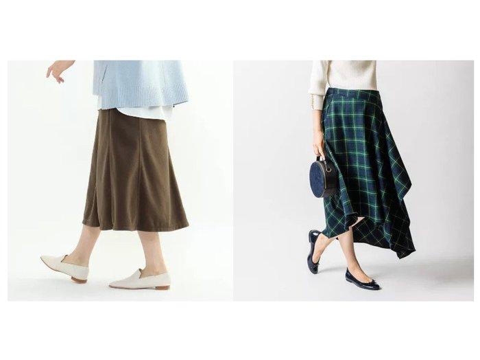【Other/その他】のモニカアシンメトリースカート&【INDIVI/インディヴィ】のトスカーナフリースジャージスカート スカートのおすすめ!人気、レディースファッションの通販 おすすめファッション通販アイテム レディースファッション・服の通販 founy(ファニー)  ファッション Fashion レディース WOMEN スカート Skirt シンプル ジャージ マーメイド イレギュラーヘム クラシカル チェック フォルム マキシ ロング 秋冬 A/W Autumn/ Winter |ID:crp329100000002689