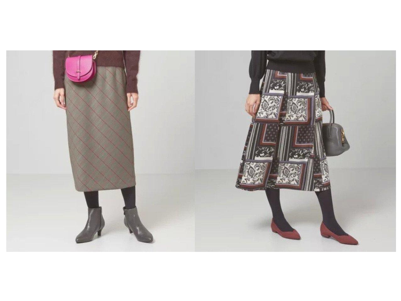 【THE STATION STORE/ザ ステーション ストア ユナイテッドアローズ】のbiasチェック ミドル Iラインスカート -手洗い可能-&スカーフプリントFLR スカート -手洗い可能- スカートのおすすめ!人気、レディースファッションの通販 おすすめで人気のファッション通販商品 インテリア・家具・キッズファッション・メンズファッション・レディースファッション・服の通販 founy(ファニー) https://founy.com/ ファッション Fashion レディース WOMEN スカート Skirt クラシカル シンプル チェック ヘリンボーン ミドル ロング  ID:crp329100000002691