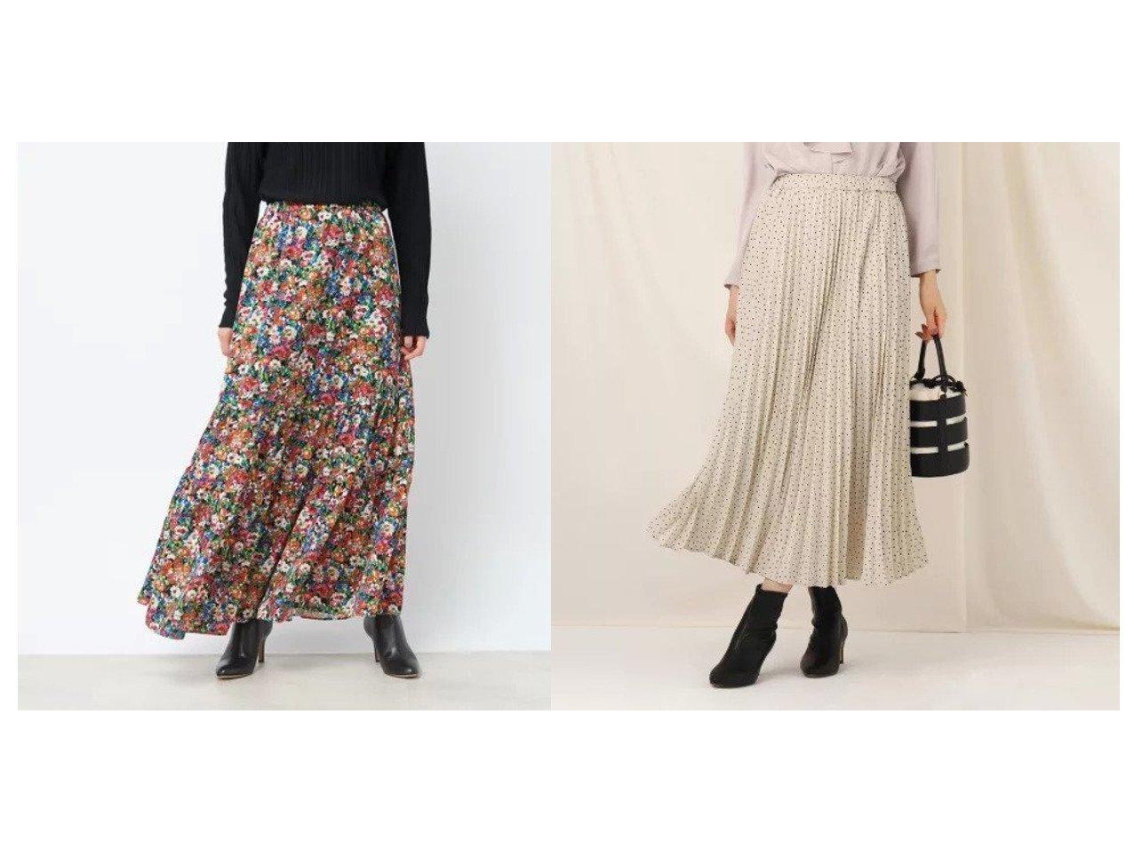 【Rouge vif/ルージュ ヴィフ】のフラワープリント切り替えスカート&【Couture Brooch/クチュール ブローチ】のフローキードットプリーツスカート スカートのおすすめ!人気、レディースファッションの通販 おすすめで人気のファッション通販商品 インテリア・家具・キッズファッション・メンズファッション・レディースファッション・服の通販 founy(ファニー) https://founy.com/ ファッション Fashion レディース WOMEN スカート Skirt プリーツスカート Pleated Skirts タイツ フラワー プリント マキシ ロング 冬 Winter プリーツ  ID:crp329100000002694
