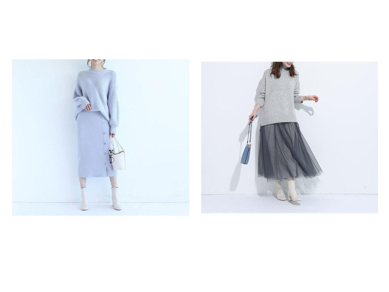 【Apuweiser-riche/アプワイザーリッシェ】のチュールスカートレイヤードニットアップ&2wayレーススカートセットニットアップ スカートのおすすめ!人気、レディースファッションの通販 おすすめで人気のファッション通販商品 インテリア・家具・キッズファッション・メンズファッション・レディースファッション・服の通販 founy(ファニー) https://founy.com/ ファッション Fashion レディース WOMEN スカート Skirt シアー レース ロマンティック エアリー  ID:crp329100000002700