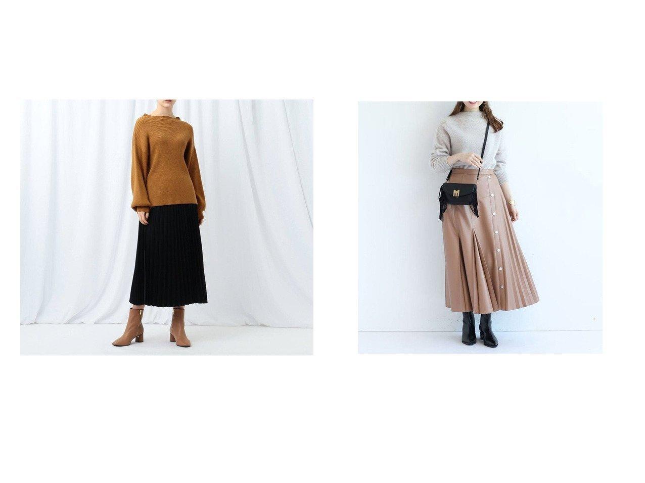 【Apuweiser-riche/アプワイザーリッシェ】のレザープリーツアシメスカート&【INDIVI/インディヴィ】の【WEB限定】ニットトップス&布帛プリーツスカート ニットアップ スカートのおすすめ!人気、レディースファッションの通販 おすすめで人気のファッション通販商品 インテリア・家具・キッズファッション・メンズファッション・レディースファッション・服の通販 founy(ファニー) https://founy.com/ ファッション Fashion レディース WOMEN トップス Tops Tshirt ニット Knit Tops スカート Skirt プリーツスカート Pleated Skirts セットアップ ドレープ 定番 バランス プリーツ ボトルネック メランジ 秋冬 A/W Autumn/ Winter ミモレ  ID:crp329100000002701