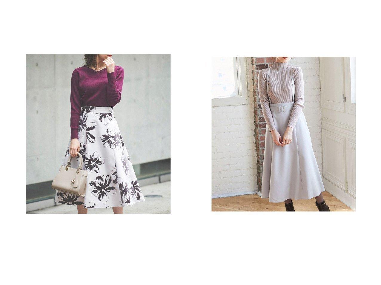 【Noela/ノエラ】のラインフラワーフロッキースカート&【12TWELVE AGENDA/トゥエルブ アジェンダ】の2wayサス付フレアスカート スカートのおすすめ!人気、レディースファッションの通販 おすすめで人気のファッション通販商品 インテリア・家具・キッズファッション・メンズファッション・レディースファッション・服の通販 founy(ファニー) https://founy.com/ ファッション Fashion レディース WOMEN スカート Skirt Aライン/フレアスカート Flared A-Line Skirts コンパクト サテン フィット フレア サスペンダー シンプル トレンド ハイネック ミモレ  ID:crp329100000002703