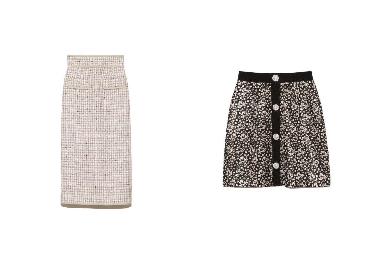【Lily Brown/リリーブラウン】のツイードロングスカート&[L.B CANDY STOCK]ビジュー釦ミニスカート スカートのおすすめ!人気、レディースファッションの通販 おすすめで人気のファッション通販商品 インテリア・家具・キッズファッション・メンズファッション・レディースファッション・服の通販 founy(ファニー) https://founy.com/ ファッション Fashion レディース WOMEN スカート Skirt ロングスカート Long Skirt ミニスカート Mini Skirts クール ジャケット スマート セットアップ ツイード パイピング フェイクレザー フロント ポケット ミックス ロング コンパクト 台形 ビジュー ミニスカート 無地 冬 Winter  ID:crp329100000002704
