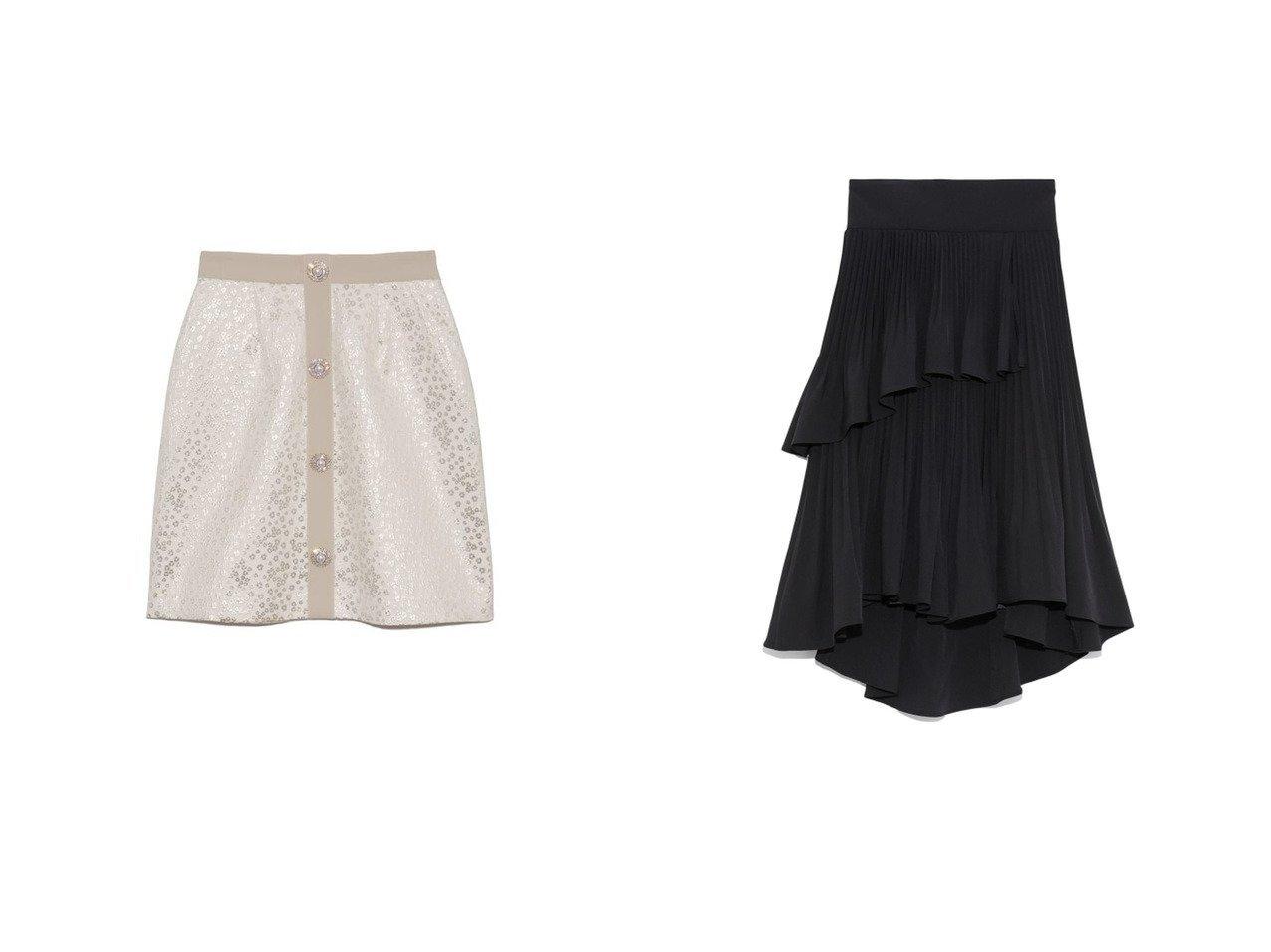 【SNIDEL/スナイデル】のプリーツフレアミニスカート&【Lily Brown/リリーブラウン】の[L.B CANDY STOCK]ビジュー釦ミニスカート スカートのおすすめ!人気、レディースファッションの通販 おすすめで人気のファッション通販商品 インテリア・家具・キッズファッション・メンズファッション・レディースファッション・服の通販 founy(ファニー) https://founy.com/ ファッション Fashion レディース WOMEN スカート Skirt ミニスカート Mini Skirts コンパクト スマート 台形 パイピング ビジュー フロント ミニスカート 無地 冬 Winter クラシカル セットアップ フレア プリーツ ペプラム ロング  ID:crp329100000002705