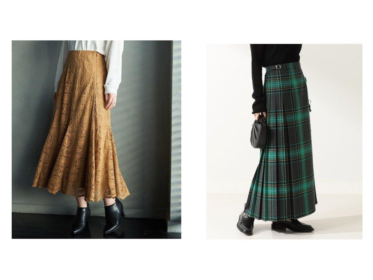 【Rope Picnic/ロペピクニック】のレースマーメイドスカート&【Demi-Luxe BEAMS/デミルクス ビームス】のMOYNALTY ロング キルトスカート スカートのおすすめ!人気、レディースファッションの通販 おすすめで人気のファッション通販商品 インテリア・家具・キッズファッション・メンズファッション・レディースファッション・服の通販 founy(ファニー) https://founy.com/ ファッション Fashion レディース WOMEN スカート Skirt ロングスカート Long Skirt エレガント ショート ドレープ ポケット マーメイド レース ロング 秋 キルト チェック モダン |ID:crp329100000002709