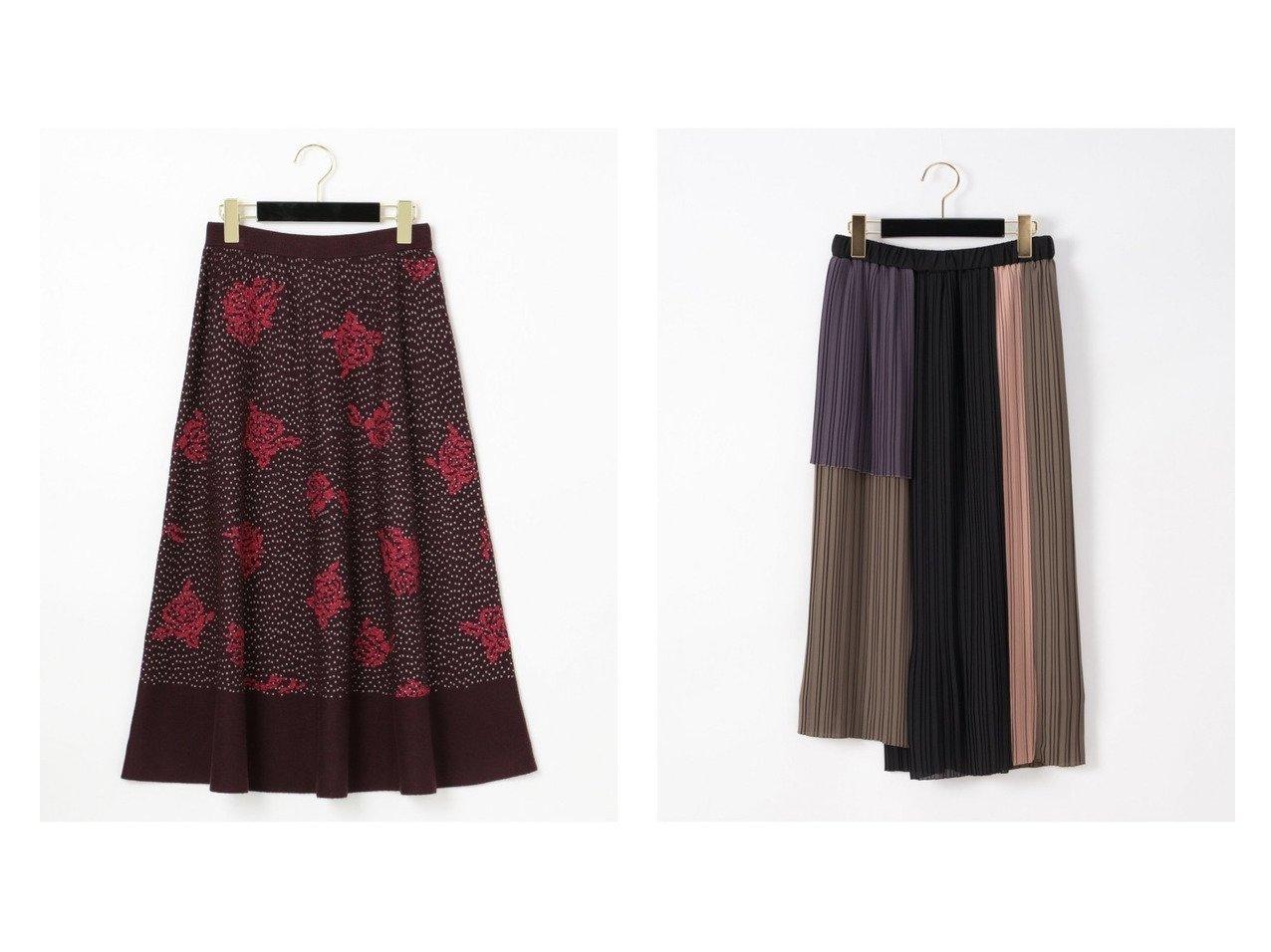 【GRACE CONTINENTAL/グレース コンチネンタル】のタイトプリーツスカート&ローズ刺繍ニットスカート スカートのおすすめ!人気、レディースファッションの通販 おすすめで人気のファッション通販商品 インテリア・家具・キッズファッション・メンズファッション・レディースファッション・服の通販 founy(ファニー) https://founy.com/ ファッション Fashion レディース WOMEN スカート Skirt プリーツスカート Pleated Skirts エレガント フレア ローズ ギャザー ジョーゼット ストレート トレンド プリーツ ロング 定番 |ID:crp329100000002722
