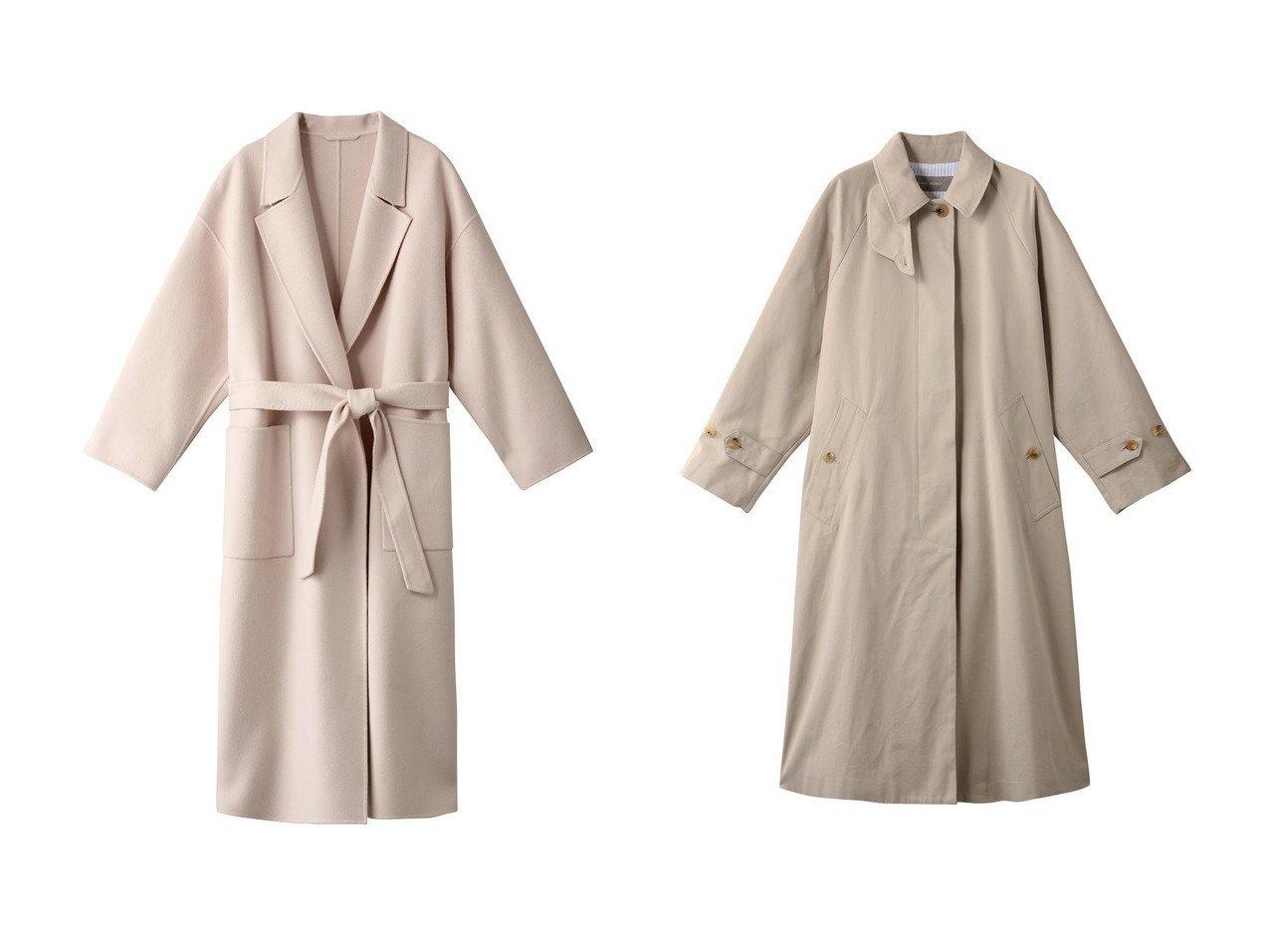 【PLAIN PEOPLE/プレインピープル】の高密度ギャバステンカラーコート&【THIRD MAGAZINE/サードマガジン】のウールリバーコート アウターのおすすめ!人気、レディースファッションの通販 おすすめで人気のファッション通販商品 インテリア・家具・キッズファッション・メンズファッション・レディースファッション・服の通販 founy(ファニー) https://founy.com/ ファッション Fashion レディース WOMEN アウター Coat Outerwear コート Coats なめらか ガウン シンプル ロング |ID:crp329100000002786