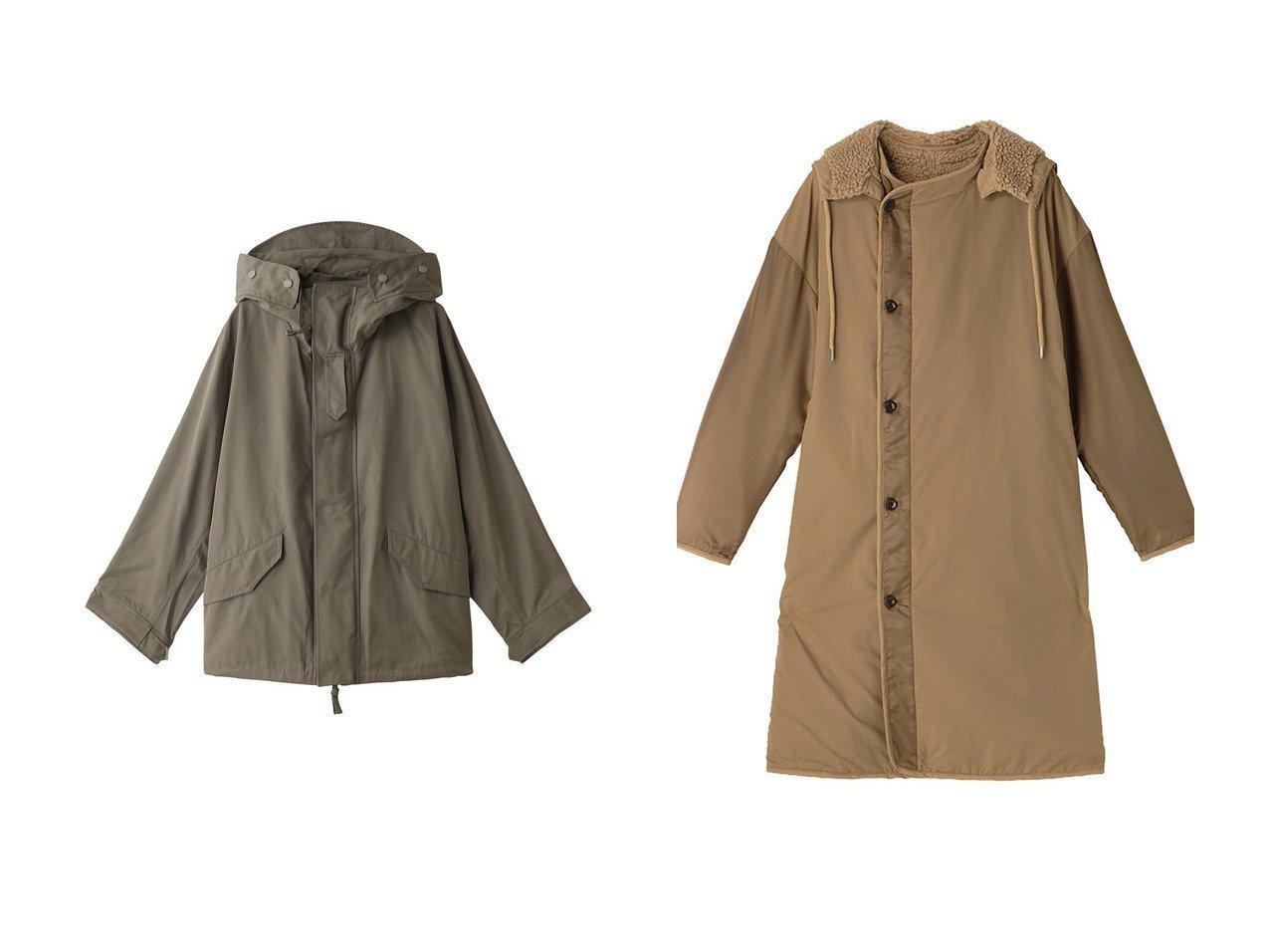 【1er Arrondissement/プルミエ アロンディスモン】の【upper hights】THE MILITARY PARKA&【ETRE TOKYO/エトレトウキョウ】のフーディリバーシブルボアコート アウターのおすすめ!人気、レディースファッションの通販 おすすめで人気のファッション通販商品 インテリア・家具・キッズファッション・メンズファッション・レディースファッション・服の通販 founy(ファニー) https://founy.com/ ファッション Fashion レディース WOMEN アウター Coat Outerwear ジャケット Jackets コート Coats シンプル ジャケット エレガント ミリタリー ロング |ID:crp329100000002790
