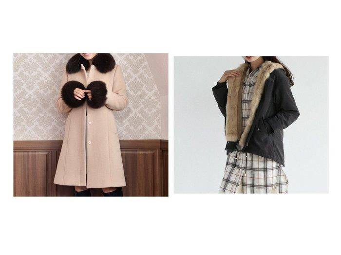 【LASUD/ラシュッド】のRADIATE ラビットファー ショートモッズコート&【MiiA/ミーア】のFOXファーノーカラービジューコート アウターのおすすめ!人気、レディースファッションの通販 おすすめファッション通販アイテム レディースファッション・服の通販 founy(ファニー) ファッション Fashion レディース WOMEN アウター Coat Outerwear コート Coats モッズ/フィールドコート Mods Field Coats カフス フォックス なめらか ボトム ポケット モッズコート ライナー ロング ワイド 冬 Winter 秋冬 A/W Autumn/ Winter |ID:crp329100000002801