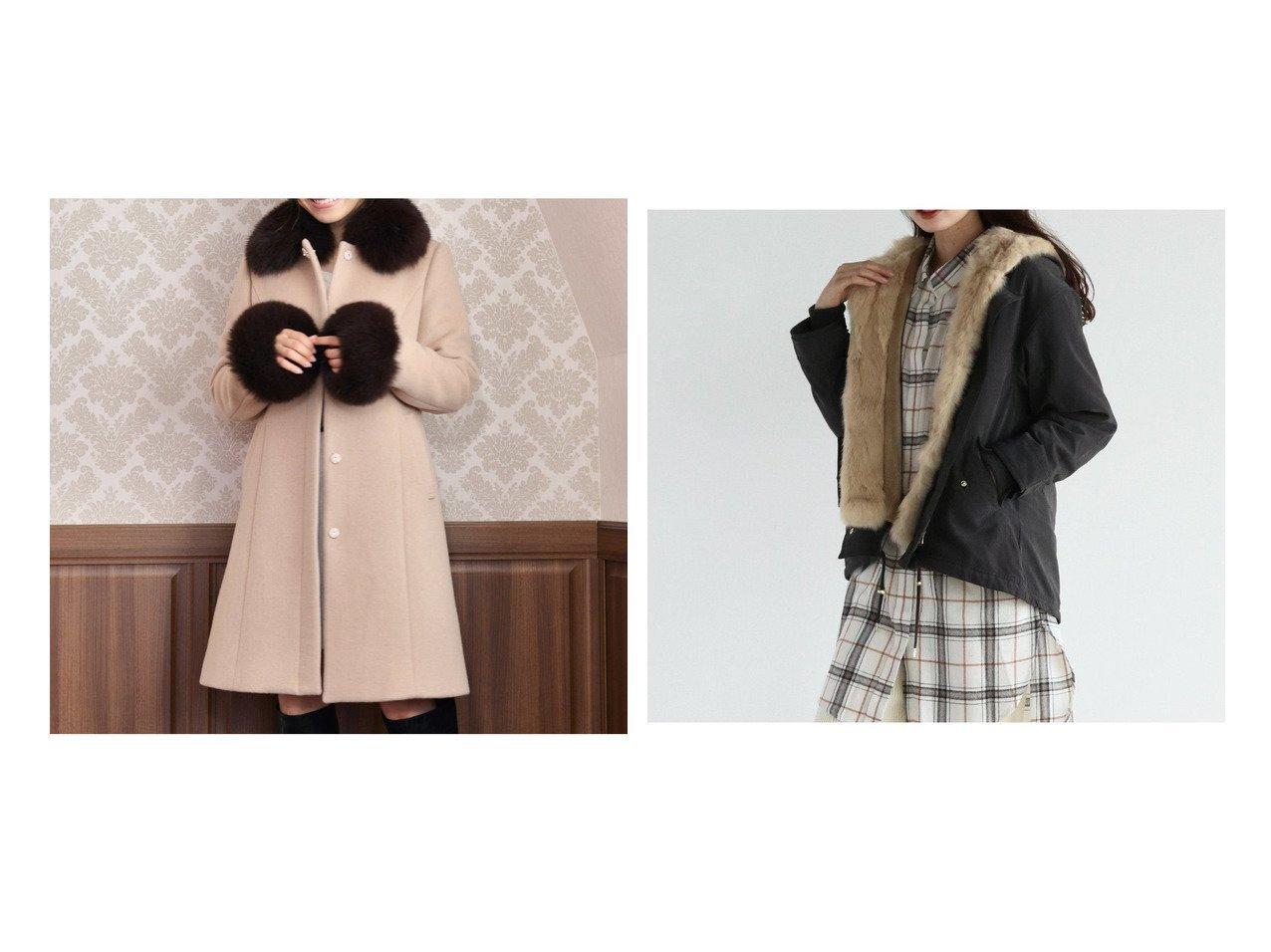 【LASUD/ラシュッド】のRADIATE ラビットファー ショートモッズコート&【MiiA/ミーア】のFOXファーノーカラービジューコート アウターのおすすめ!人気、レディースファッションの通販 おすすめで人気のファッション通販商品 インテリア・家具・キッズファッション・メンズファッション・レディースファッション・服の通販 founy(ファニー) https://founy.com/ ファッション Fashion レディース WOMEN アウター Coat Outerwear コート Coats モッズ/フィールドコート Mods Field Coats カフス フォックス なめらか ボトム ポケット モッズコート ライナー ロング ワイド 冬 Winter 秋冬 A/W Autumn/ Winter |ID:crp329100000002801