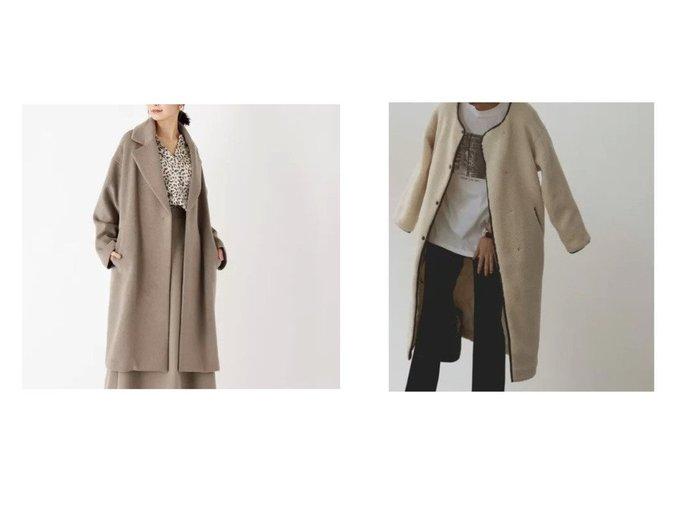 【marjour/マージュール】のBOA COAT&【OPAQUE.CLIP/オペークドットクリップ】の【WEB限定サイズ】ウールミックス ダブルブレストチェスターコート アウターのおすすめ!人気、レディースファッションの通販 おすすめファッション通販アイテム レディースファッション・服の通販 founy(ファニー) ファッション Fashion レディース WOMEN アウター Coat Outerwear コート Coats チェスターコート Top Coat コンパクト ダブル チェスターコート デニム フロント ミックス インナー キルティング タートル ダウン パイピング フェイクレザー マフラー モコモコ ロング 冬 Winter 秋 |ID:crp329100000002850