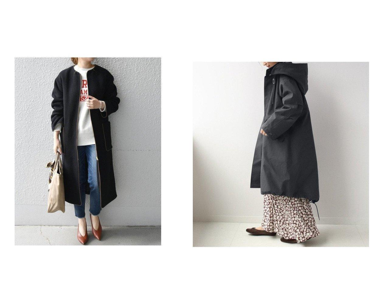 【SHIPS any/シップス エニィ】のSHIPS any: ノーカラー パイピング ロングコート(ブラック)&【JOURNAL STANDARD relume/ジャーナルスタンダード レリューム】のモッズコート アウターのおすすめ!人気、レディースファッションの通販 おすすめで人気のファッション通販商品 インテリア・家具・キッズファッション・メンズファッション・レディースファッション・服の通販 founy(ファニー) https://founy.com/ ファッション Fashion レディース WOMEN アウター Coat Outerwear コート Coats ジャケット Jackets モッズ/フィールドコート Mods Field Coats ショルダー シンプル ジャケット ドロップ パイピング ロング 秋冬 A/W Autumn/ Winter キルティング ミリタリー モッズコート ライナー  ID:crp329100000002870