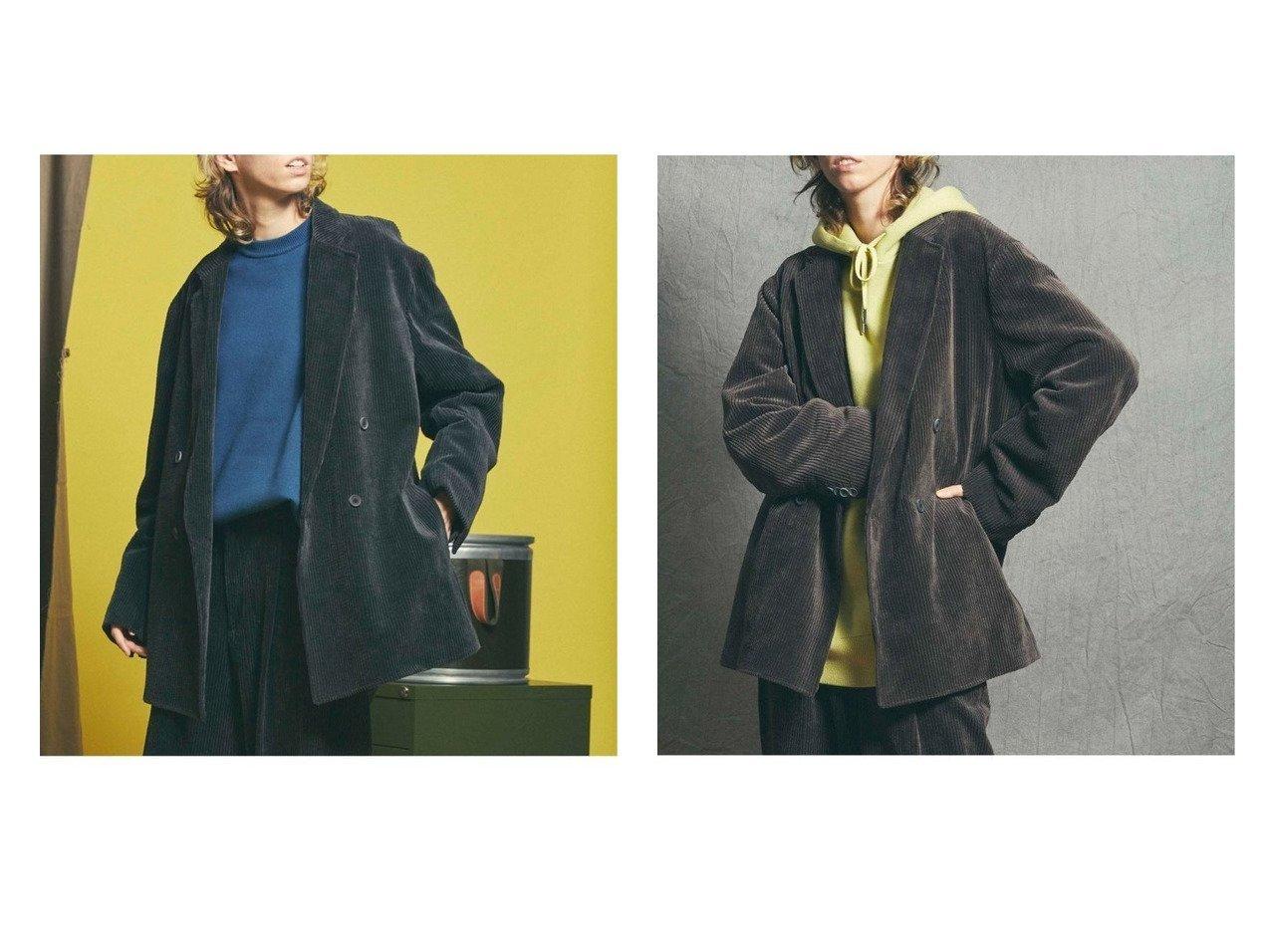【MAISON SPECIAL/メゾンスペシャル】のTAKEMIコーデュロイオーバーサイズダブルテーラードジャケット アウターのおすすめ!人気、レディースファッションの通販 おすすめで人気のファッション通販商品 インテリア・家具・キッズファッション・メンズファッション・レディースファッション・服の通販 founy(ファニー) https://founy.com/ ファッション Fashion レディース WOMEN アウター Coat Outerwear コート Coats ジャケット Jackets テーラードジャケット Tailored Jackets コーデュロイ ジャケット  ID:crp329100000002872