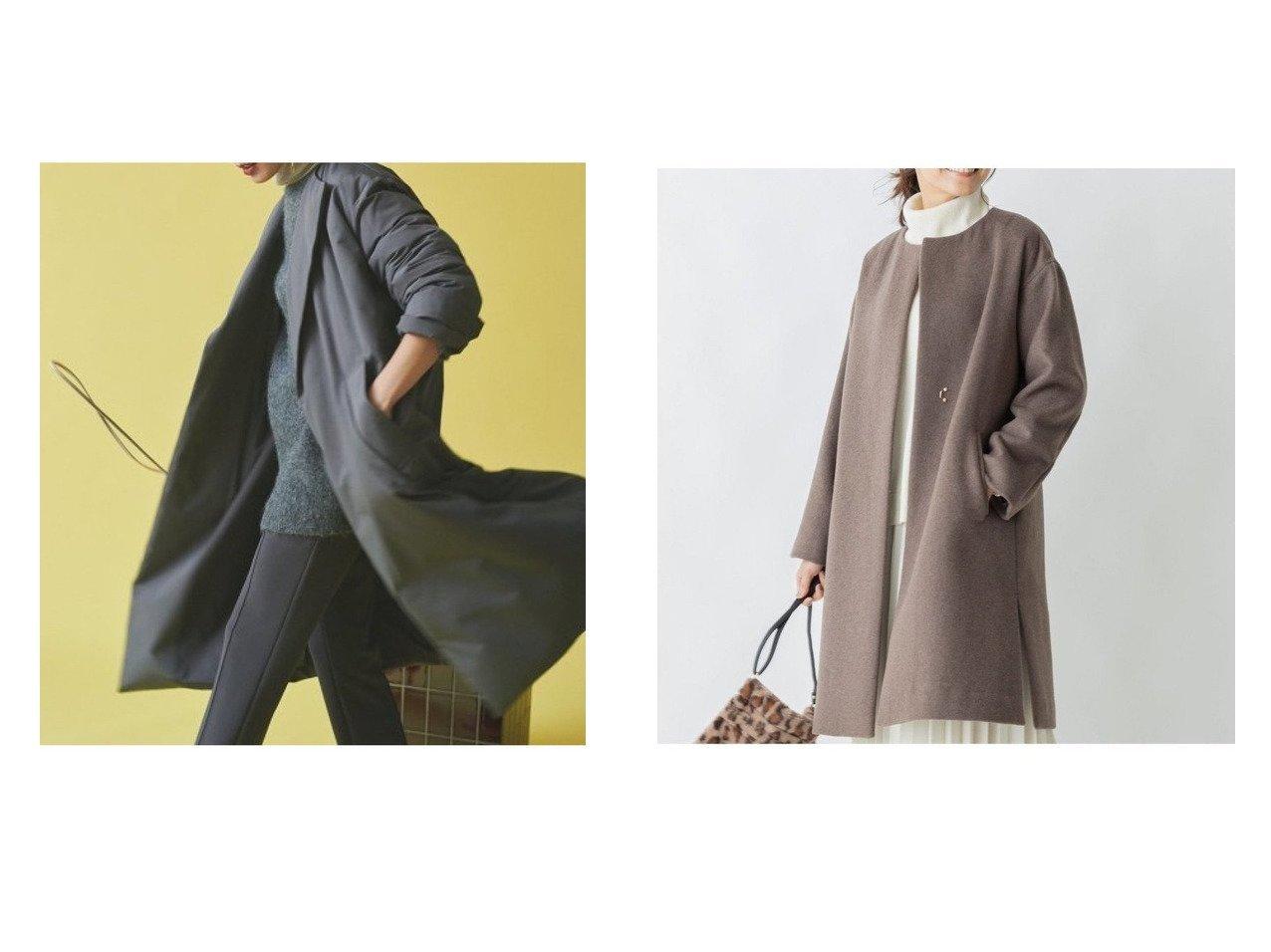 【any FAM/エニィファム】のカシミヤブレンドノーカラー コート&【Mila Owen/ミラオーウェン】のAライントレンチダウンコート アウターのおすすめ!人気、レディースファッションの通販 おすすめで人気のファッション通販商品 インテリア・家具・キッズファッション・メンズファッション・レディースファッション・服の通販 founy(ファニー) https://founy.com/ ファッション Fashion レディース WOMEN アウター Coat Outerwear コート Coats ジャケット Jackets ダウン Down Coats And Jackets トップス Tops Tshirt シャツ/ブラウス Shirts Blouses ジャケット ダウン トレンチ ロング インナー カシミヤ シンプル タートルネック チェスターコート デニム パーカー フレア 人気 定番 |ID:crp329100000002874
