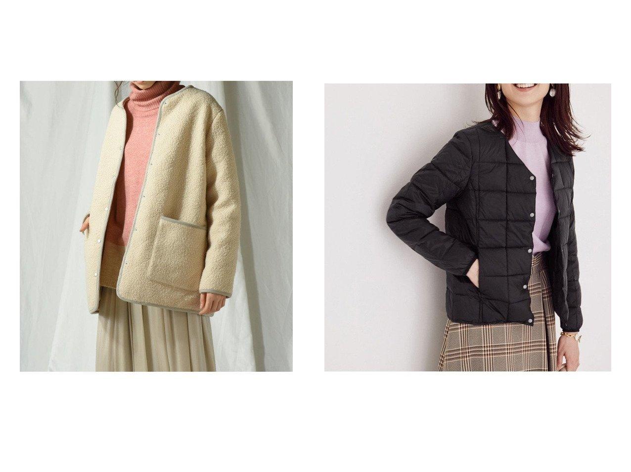 【MAYSON GREY/メイソングレイ】のボアキルトリバーシブルジャケット&【ROPE/ロペ】の【撥水】【TAION】Vネックコンパクトインナーダウン アウターのおすすめ!人気、レディースファッションの通販 おすすめで人気のファッション通販商品 インテリア・家具・キッズファッション・メンズファッション・レディースファッション・服の通販 founy(ファニー) https://founy.com/ ファッション Fashion レディース WOMEN アウター Coat Outerwear コート Coats ジャケット Jackets テーラードジャケット Tailored Jackets ブルゾン Blouson Jackets キルティング コーデュロイ ジャケット タフタ バランス パイピング ミドル インナー エレガント コンパクト ダウン ブルゾン ベーシック |ID:crp329100000002896