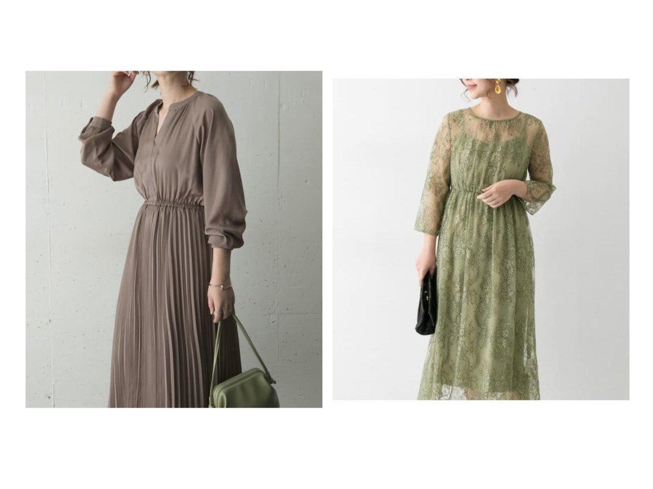 【URBAN RESEARCH ROSSO/アーバンリサーチ ロッソ】の配色レースミディドレス&プリーツワンピース ワンピース・ドレスのおすすめ!人気、レディースファッションの通販  おすすめで人気のファッション通販商品 インテリア・家具・キッズファッション・メンズファッション・レディースファッション・服の通販 founy(ファニー) https://founy.com/ ファッション Fashion レディース WOMEN ワンピース Dress ドレス Party Dresses ジャケット スタンダード プリーツ ポケット アンティーク イヤリング キャミソール ドレス ヌーディ ネックレス パーティ ビジュー フォーマル フリンジ レース |ID:crp329100000002905