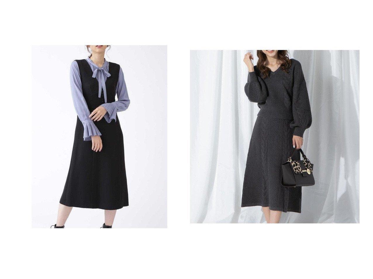 【JILLSTUART/ジルスチュアート】のペイジジャンパースカート&【QUEENS COURT/クイーンズ コート】のアラン柄ニットアップ ワンピース・ドレスのおすすめ!人気、レディースファッションの通販  おすすめで人気のファッション通販商品 インテリア・家具・キッズファッション・メンズファッション・レディースファッション・服の通販 founy(ファニー) https://founy.com/ ファッション Fashion レディース WOMEN ワンピース Dress スリット センター フェミニン セットアップ フィット フォルム 今季 |ID:crp329100000002917