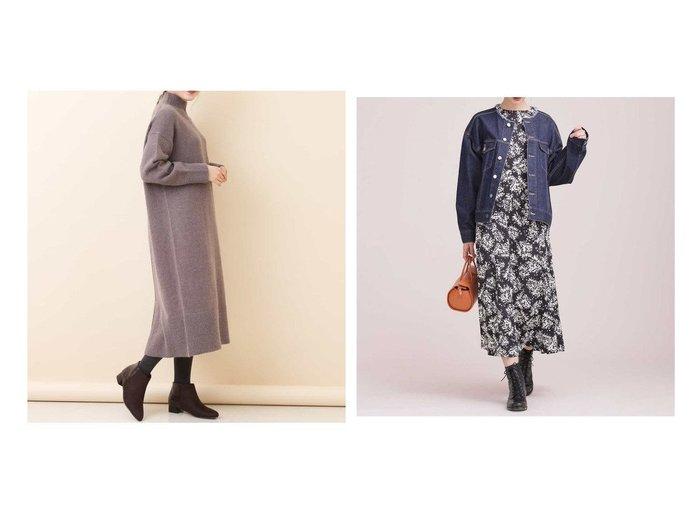 【nano universe/ナノ ユニバース】のボタニカルフラワープリントワンピース&【a.v.v/アー ヴェー ヴェー】の【洗える】タートルニットワンピース ワンピース・ドレスのおすすめ!人気、レディースファッションの通販  おすすめファッション通販アイテム レディースファッション・服の通販 founy(ファニー) ファッション Fashion レディース WOMEN ワンピース Dress ニットワンピース Knit Dresses シンプル スリット 今冬 Winter ウォッシャブル サテン トレンド フラワー プリント ボタニカル |ID:crp329100000002919