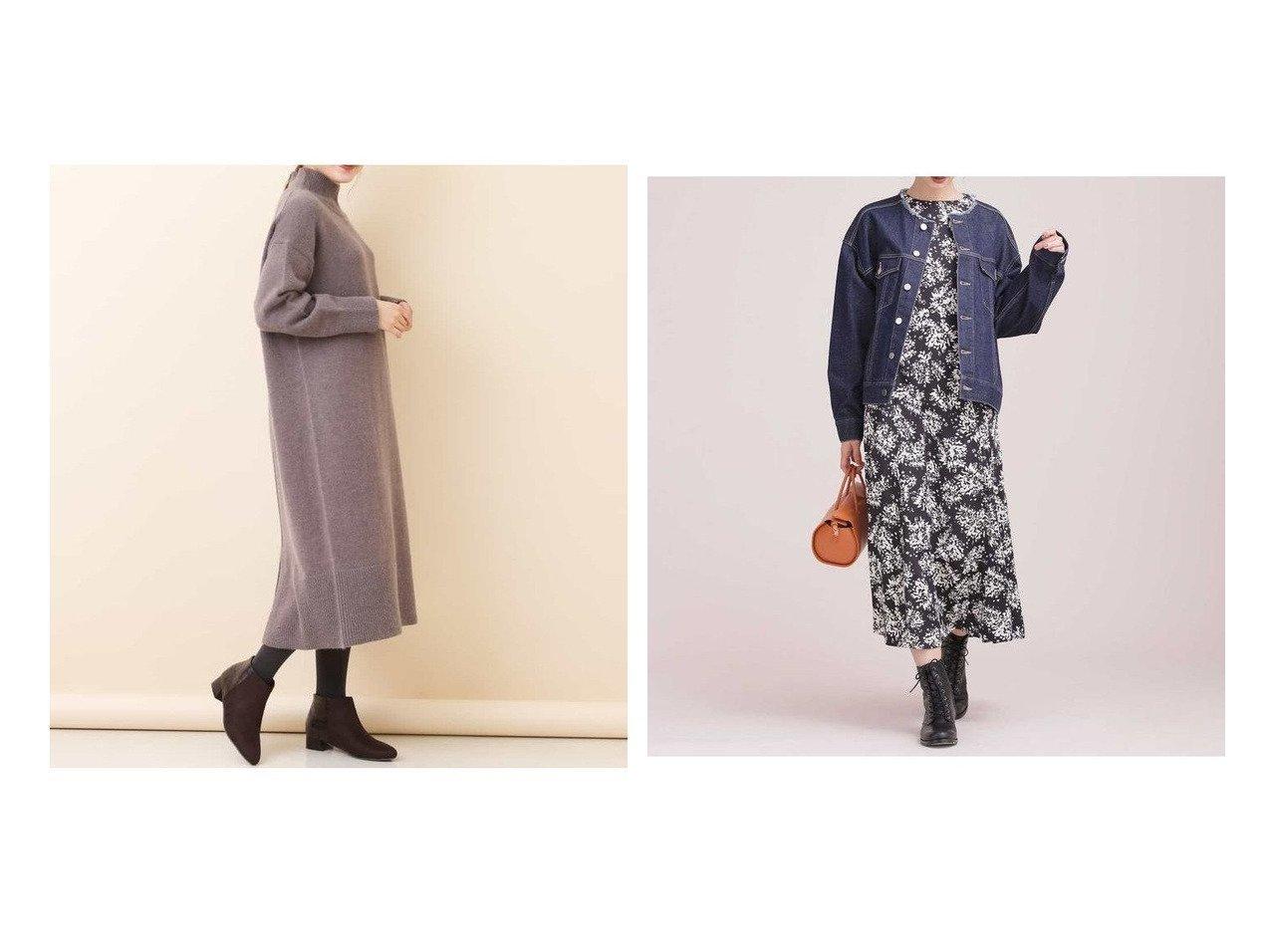 【nano universe/ナノ ユニバース】のボタニカルフラワープリントワンピース&【a.v.v/アー ヴェー ヴェー】の【洗える】タートルニットワンピース ワンピース・ドレスのおすすめ!人気、レディースファッションの通販  おすすめで人気のファッション通販商品 インテリア・家具・キッズファッション・メンズファッション・レディースファッション・服の通販 founy(ファニー) https://founy.com/ ファッション Fashion レディース WOMEN ワンピース Dress ニットワンピース Knit Dresses シンプル スリット 今冬 Winter ウォッシャブル サテン トレンド フラワー プリント ボタニカル |ID:crp329100000002919