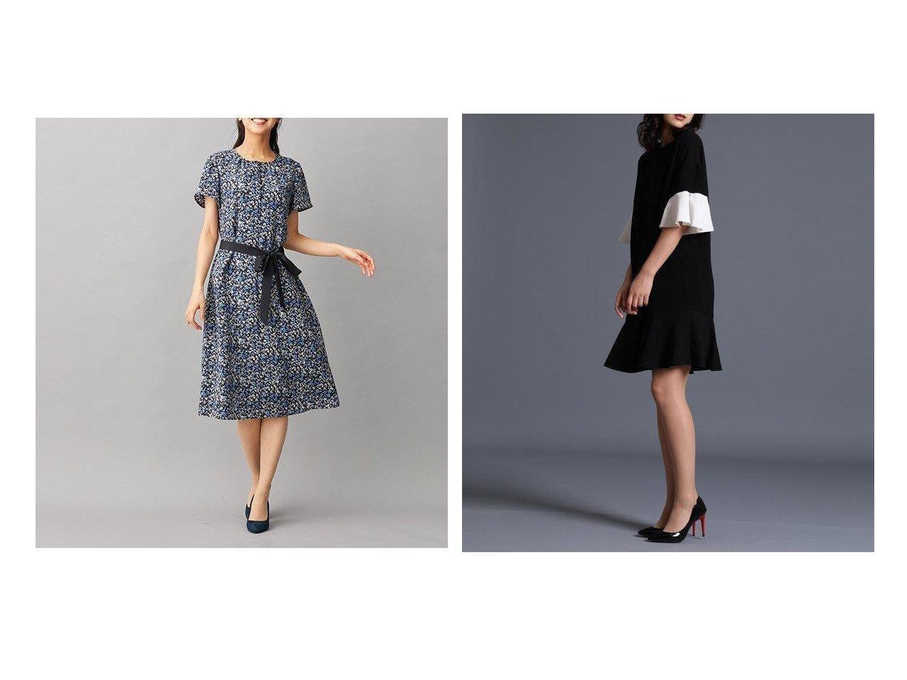 【ef-de/エフデ】の《M Maglie le cassetto》フレアスリーブドレス&【LEILIAN/レリアン】のフラワープリントワンピ-ス ワンピース・ドレスのおすすめ!人気、レディースファッションの通販  おすすめで人気のファッション通販商品 インテリア・家具・キッズファッション・メンズファッション・レディースファッション・服の通販 founy(ファニー) https://founy.com/ ファッション Fashion レディース WOMEN ワンピース Dress ドレス Party Dresses フラワー プリント リボン 半袖 ドレス フレア ボックス リラックス |ID:crp329100000002921