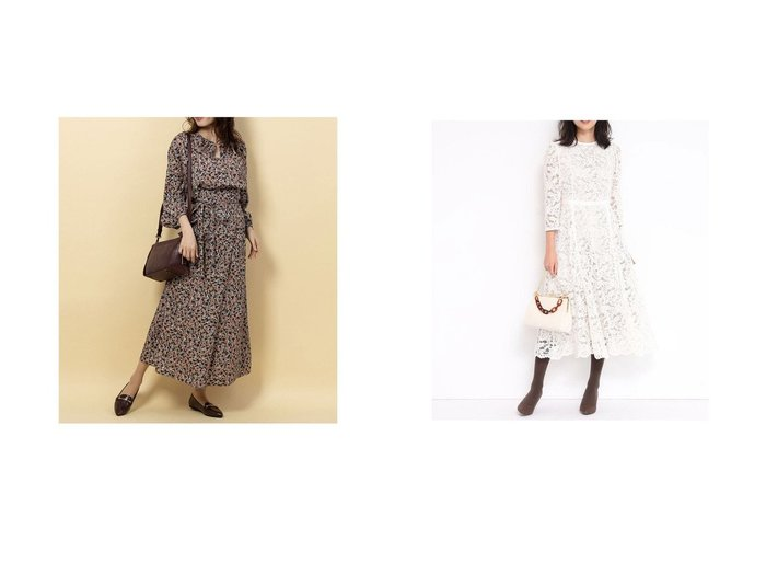 【Rename/リネーム】のプリントVネックワンピース&【JUSGLITTY/ジャスグリッティー】のレースワンピース ワンピース・ドレスのおすすめ!人気、レディースファッションの通販  おすすめファッション通販アイテム レディースファッション・服の通販 founy(ファニー) ファッション Fashion レディース WOMEN ワンピース Dress プリント ラップ エレガント ベーシック レース ロング |ID:crp329100000002937