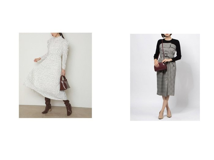 【JUSGLITTY/ジャスグリッティー】のチェックベアワンピース&【SNIDEL/スナイデル】のパフスリプリントワンピース ワンピース・ドレスのおすすめ!人気、レディースファッションの通販  おすすめファッション通販アイテム レディースファッション・服の通販 founy(ファニー) ファッション Fashion レディース WOMEN ワンピース Dress インナー ギャザー クラシカル シャーリング スタンド スマート スリーブ ドット 人気 パープル フレア プリーツ ロング 冬 Winter 秋冬 A/W Autumn/ Winter シェイプ チェック トレンド バランス 羽織  ID:crp329100000002938