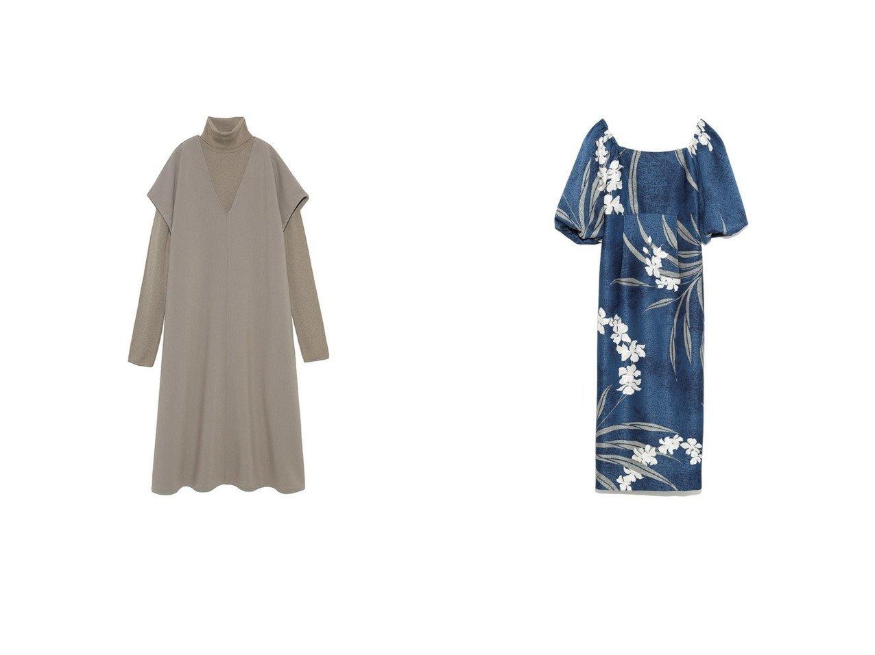 【Mila Owen/ミラオーウェン】のタートルNTレイヤード深VネックOP&【Lily Brown/リリーブラウン】の大花柄ボリューム袖ワンピース ワンピース・ドレスのおすすめ!人気、レディースファッションの通販 おすすめで人気のファッション通販商品 インテリア・家具・キッズファッション・メンズファッション・レディースファッション・服の通販 founy(ファニー) https://founy.com/ ファッション Fashion レディース WOMEN ワンピース Dress アクリル インナー シンプル スマート タートル タートルネック ドッキング ベーシック リラックス ロング ヴィンテージ スクエア ストレート スリット スリーブ パープル フィット プリント リボン 冬 Winter |ID:crp329100000002940