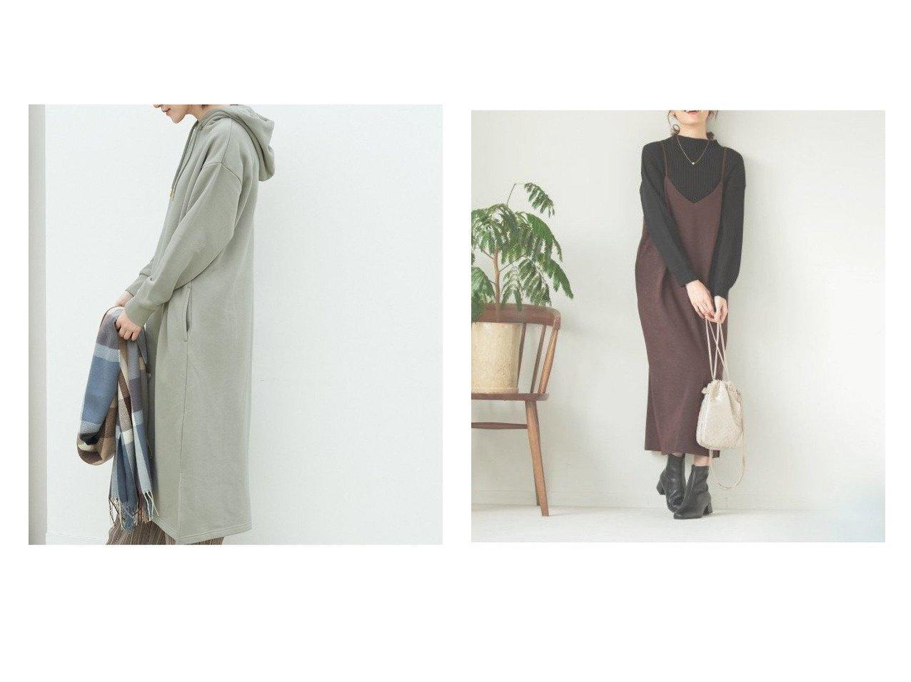 【Rope Picnic/ロペピクニック】の裏起毛裏毛フードワンピース&【GLOBAL WORK/グローバルワーク】のスウェードサテンキャミワンピ ワンピース・ドレスのおすすめ!人気、レディースファッションの通販 おすすめで人気のファッション通販商品 インテリア・家具・キッズファッション・メンズファッション・レディースファッション・服の通販 founy(ファニー) https://founy.com/ ファッション Fashion レディース WOMEN ワンピース Dress キャミワンピース No Sleeve Dresses シンプル パーカー ボトム ポケット レギンス カットソー キャミワンピース スリット タートル  ID:crp329100000002961