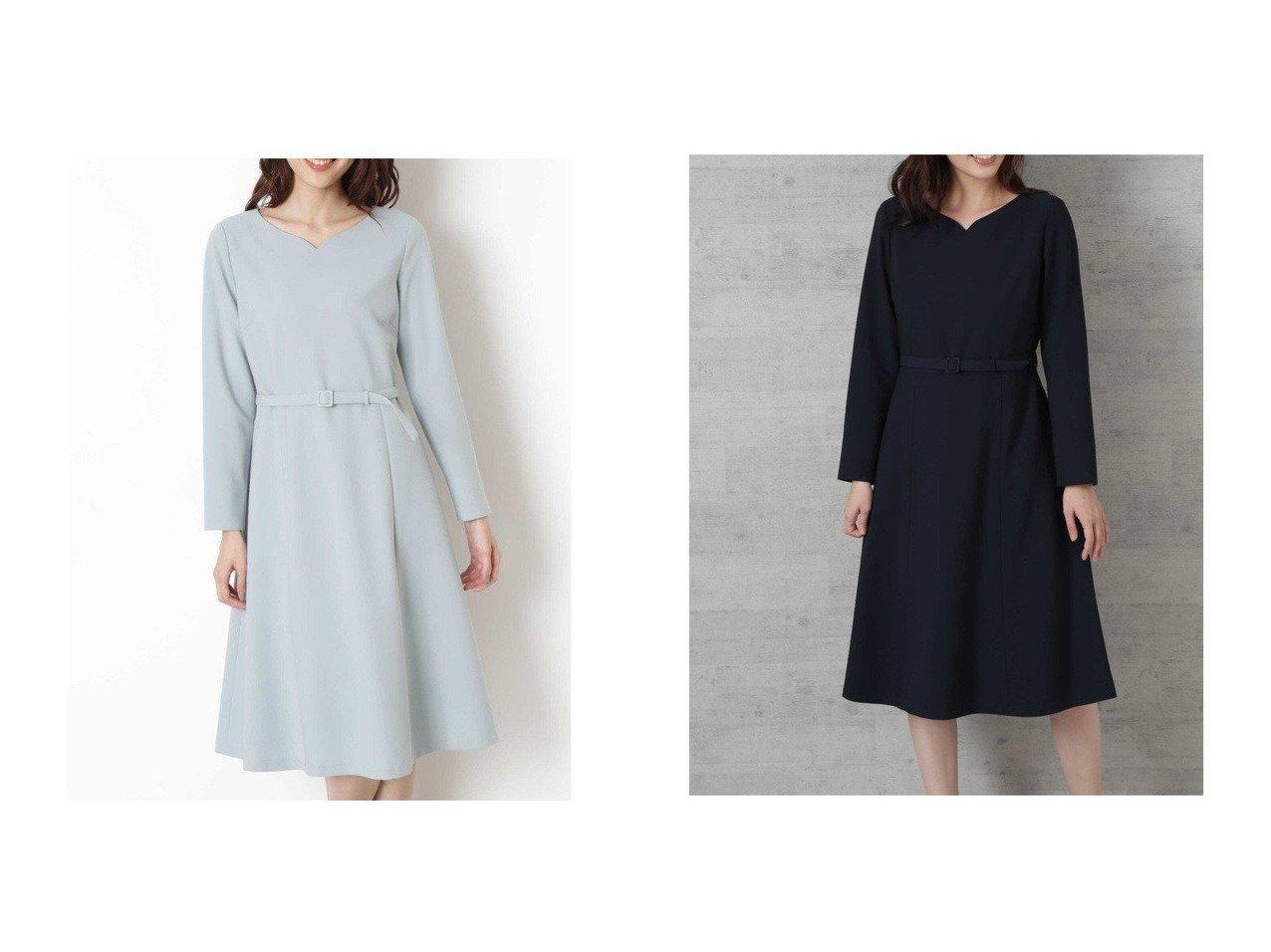 【NATURAL BEAUTY BASIC/ナチュラル ビューティー ベーシック】の[洗える]ハートネックフィットアンドフレアワンピース ワンピース・ドレスのおすすめ!人気、レディースファッションの通販 おすすめで人気のファッション通販商品 インテリア・家具・キッズファッション・メンズファッション・レディースファッション・服の通販 founy(ファニー) https://founy.com/ ファッション Fashion レディース WOMEN ワンピース Dress アクセサリー コンパクト フィット フレア  ID:crp329100000002970