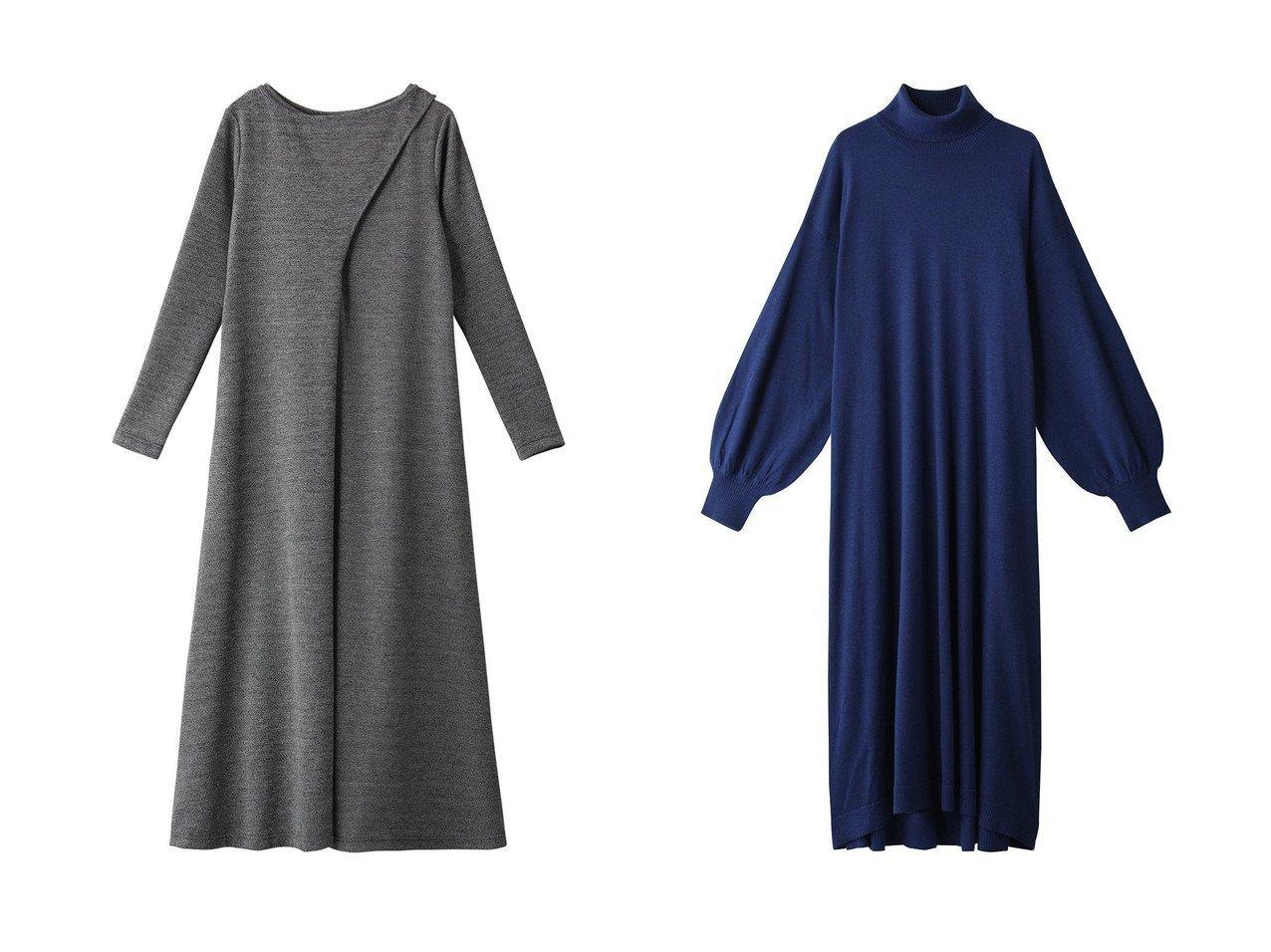 【MIDIUMISOLID/ミディウミソリッド】のロングニットワンピース&【Ezick/エジック】のツイードチョウニットワンピース ワンピース・ドレスのおすすめ!人気、レディースファッションの通販 おすすめで人気のファッション通販商品 インテリア・家具・キッズファッション・メンズファッション・レディースファッション・服の通販 founy(ファニー) https://founy.com/ ファッション Fashion レディース WOMEN ワンピース Dress ニットワンピース Knit Dresses ツイード ロング スリム スリーブ ハイネック ベーシック 秋冬 A/W Autumn/ Winter  ID:crp329100000002972