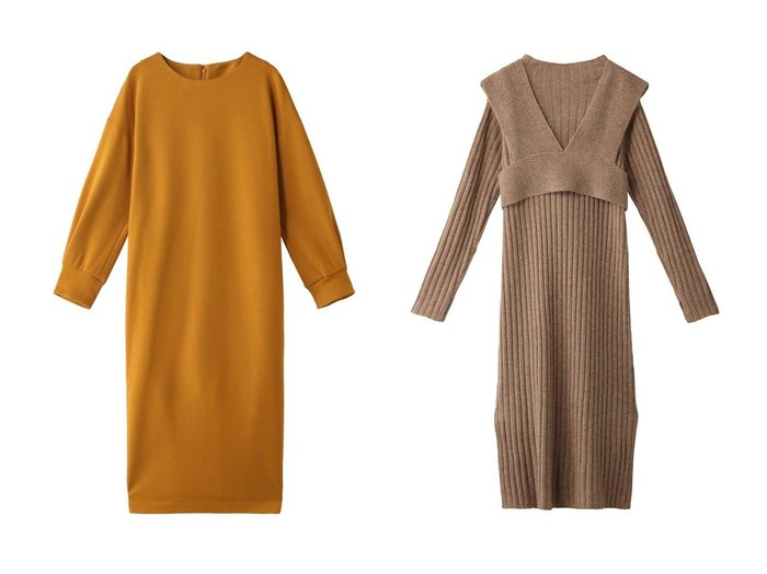 【ROSE BUD/ローズバッド】のビスチェ付きニットワンピース&【allureville/アルアバイル】のウールジャージワンピース ワンピース・ドレスのおすすめ!人気、レディースファッションの通販 おすすめファッション通販アイテム レディースファッション・服の通販 founy(ファニー) ファッション Fashion レディース WOMEN ワンピース Dress ニットワンピース Knit Dresses ジャージー ストレッチ ロング |ID:crp329100000002973