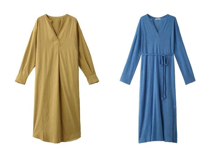 【ROSE BUD/ローズバッド】のドローストリングシアーニットワンピース&ボタンデザインスキッパーワンピース ワンピース・ドレスのおすすめ!人気、レディースファッションの通販 おすすめファッション通販アイテム レディースファッション・服の通販 founy(ファニー) ファッション Fashion レディース WOMEN ワンピース Dress ニットワンピース Knit Dresses シンプル スリット ロング インナー シアー トレンド フレア リラックス 今季 |ID:crp329100000002979