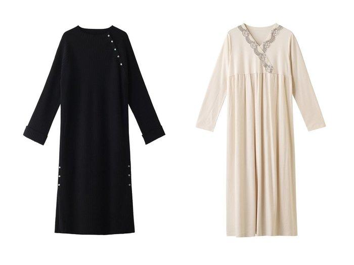 【KID BLUE/キッドブルー】のAWレーシースムースワンピース&【ROSE BUD/ローズバッド】のベーシックニットワンピース ワンピース・ドレスのおすすめ!人気、レディースファッションの通販 おすすめファッション通販アイテム レディースファッション・服の通販 founy(ファニー) ファッション Fashion レディース WOMEN ワンピース Dress ニットワンピース Knit Dresses ショルダー ベーシック ロング 秋冬 A/W Autumn/ Winter ギャザー リラックス レース |ID:crp329100000002981