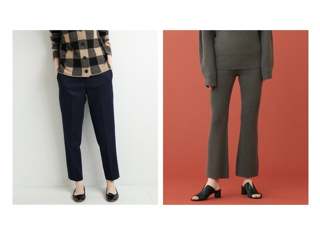 【IENA/イエナ】のsese サブリナパンツ&【TOMORROWLAND BALLSEY/トゥモローランド ボールジー】のウールセーブルカシミヤ セミフレアパンツ パンツのおすすめ!人気、レディースファッションの通販 おすすめで人気のファッション通販商品 インテリア・家具・キッズファッション・メンズファッション・レディースファッション・服の通販 founy(ファニー) https://founy.com/ ファッション Fashion レディース WOMEN パンツ Pants コレクション シルク ドット バランス フレンチ ベーシック 秋冬 A/W Autumn/ Winter カシミヤ シューズ フラット ミックス |ID:crp329100000002992
