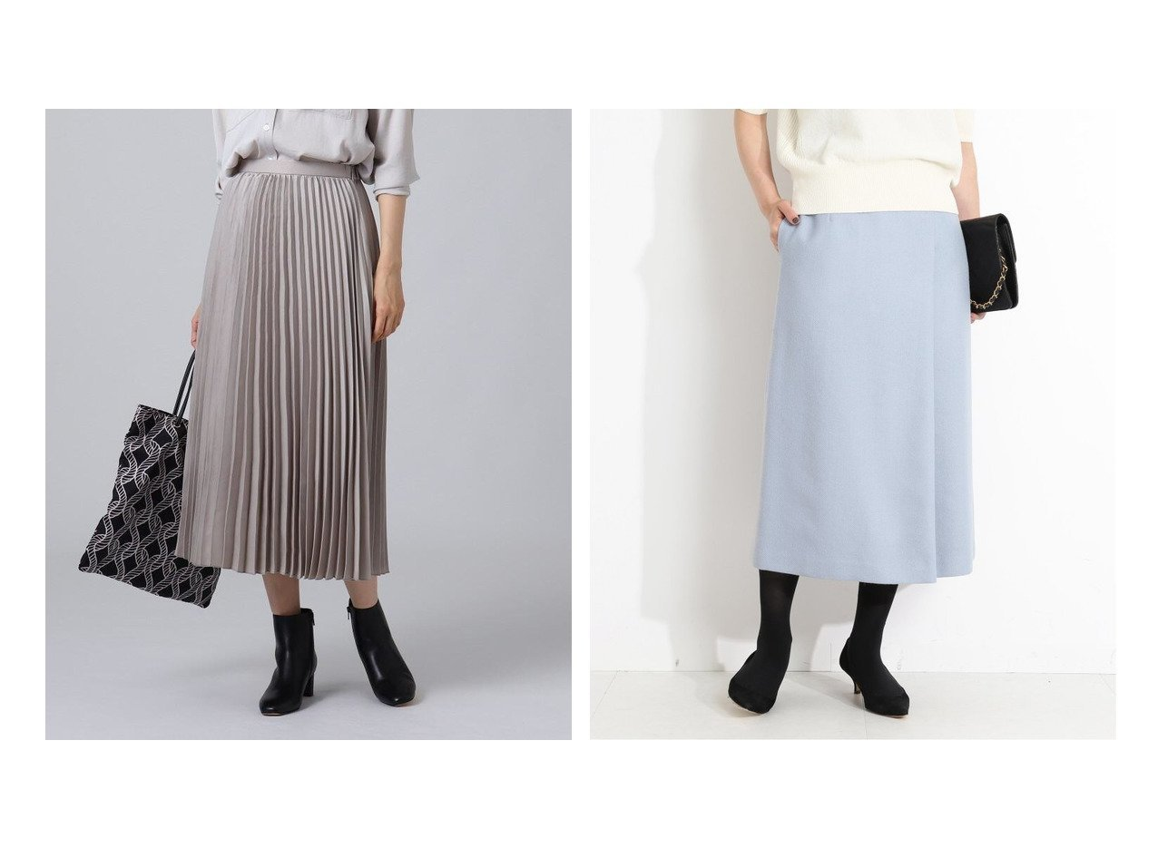 【VERMEIL par iena/ヴェルメイユ パー イエナ】のベルト付きスカート&【UNTITLED/アンタイトル】の【洗える】スエード調プリーツスカート スカートのおすすめ!人気、レディースファッションの通販 おすすめで人気のファッション通販商品 インテリア・家具・キッズファッション・メンズファッション・レディースファッション・服の通販 founy(ファニー) https://founy.com/ ファッション Fashion レディース WOMEN スカート Skirt プリーツスカート Pleated Skirts Aライン/フレアスカート Flared A-Line Skirts ベルト Belts スエード フェミニン プリーツ ポケット 秋冬 A/W Autumn/ Winter ショート スリット バランス フレア フロント ミモレ ロング |ID:crp329100000003017