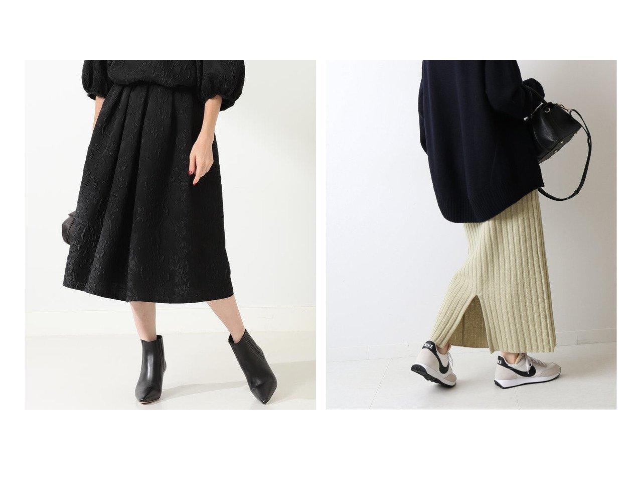 【FRAMeWORK/フレームワーク】のワイドリブポケット付き ニットスカート&【Demi-Luxe BEAMS/デミルクス ビームス】のDemi- フクレジャカード スカート スカートのおすすめ!人気、レディースファッションの通販 おすすめで人気のファッション通販商品 インテリア・家具・キッズファッション・メンズファッション・レディースファッション・服の通販 founy(ファニー) https://founy.com/ ファッション Fashion レディース WOMEN スカート Skirt エレガント ショート ジャカード セットアップ フレア ミモレ 秋冬 A/W Autumn/ Winter タイトスカート フロント ポケット |ID:crp329100000003018