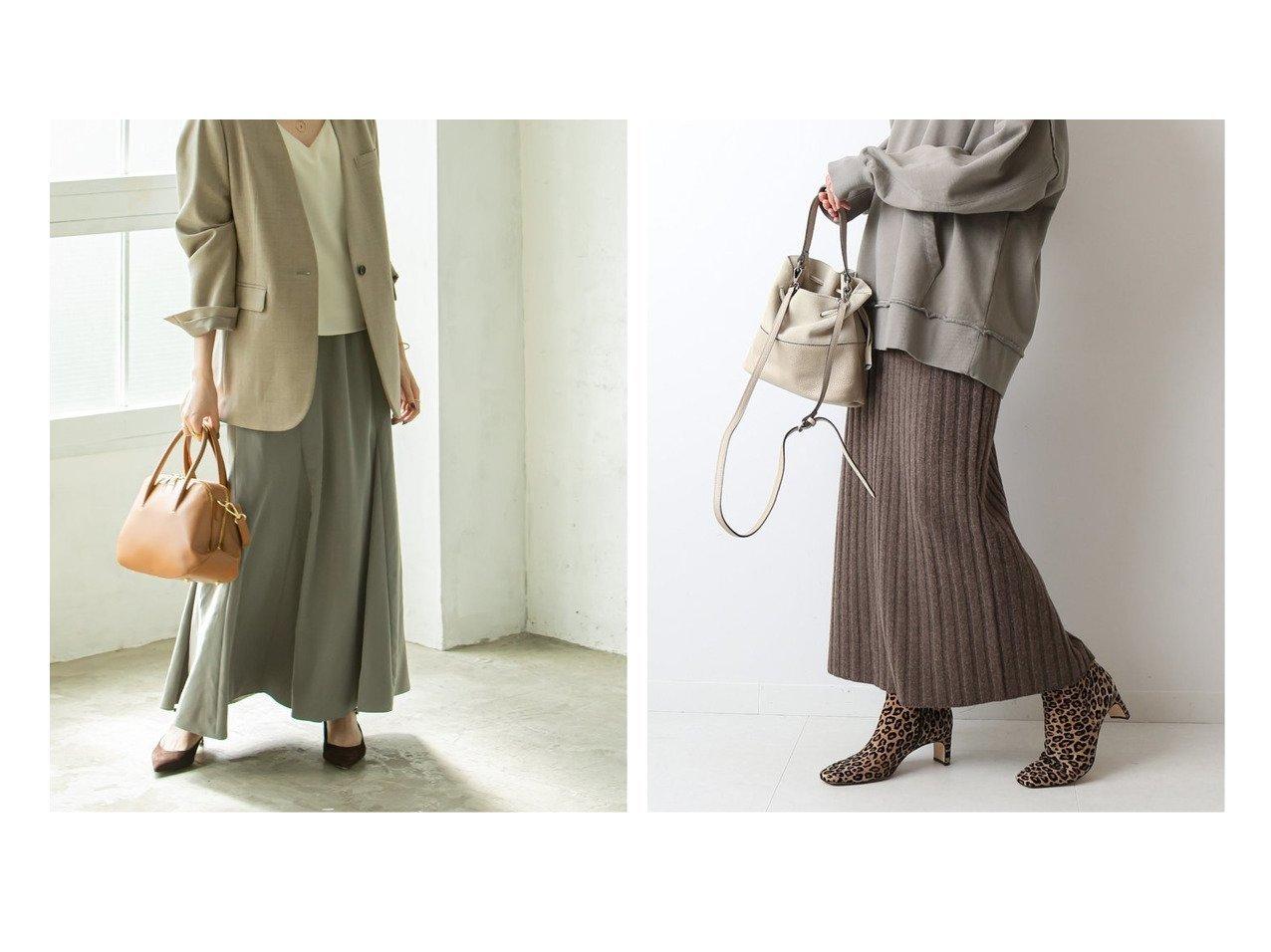 【FRAMeWORK/フレームワーク】のワイドリブポケット付き ニットスカート&【Spick & Span Noble/スピック&スパン ノーブル】のパネルソフトフレアースカート スカートのおすすめ!人気、レディースファッションの通販 おすすめで人気のファッション通販商品 インテリア・家具・キッズファッション・メンズファッション・レディースファッション・服の通販 founy(ファニー) https://founy.com/ ファッション Fashion レディース WOMEN スカート Skirt 秋冬 A/W Autumn/ Winter リラックス ロング ショート セットアップ タイトスカート フロント ポケット |ID:crp329100000003021