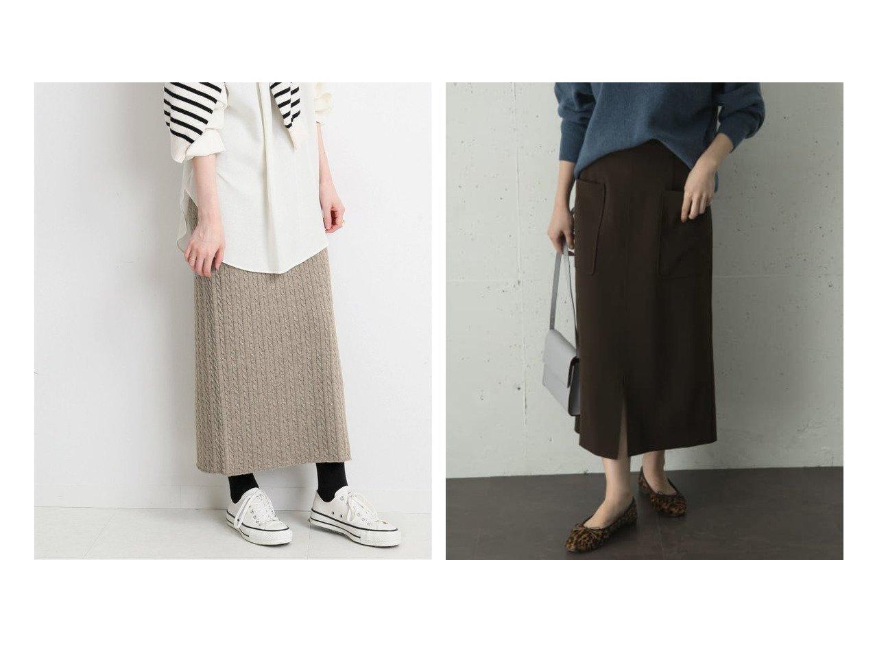 【URBAN RESEARCH ROSSO/アーバンリサーチ ロッソ】のポケットタイトスカート&【IENA/イエナ】のウォッシャブルウールコットン ケーブルスカート スカートのおすすめ!人気、レディースファッションの通販 おすすめで人気のファッション通販商品 インテリア・家具・キッズファッション・メンズファッション・レディースファッション・服の通販 founy(ファニー) https://founy.com/ ファッション Fashion レディース WOMEN スカート Skirt 秋冬 A/W Autumn/ Winter ウォッシャブル ストレート カットソー スタンダード ストレッチ ダブル フロント ポケット |ID:crp329100000003022