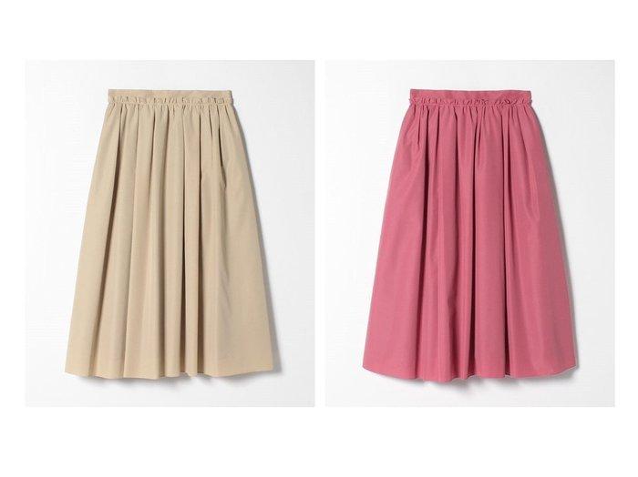 【LANVIN en Bleu/ランバン オン ブルー】のタックギャザースカート スカートのおすすめ!人気、レディースファッションの通販 おすすめファッション通販アイテム レディースファッション・服の通販 founy(ファニー) ファッション Fashion レディース WOMEN スカート Skirt Aライン/フレアスカート Flared A-Line Skirts ウォッシャブル ギャザー グログラン フレア ベーシック ミモレ |ID:crp329100000003030