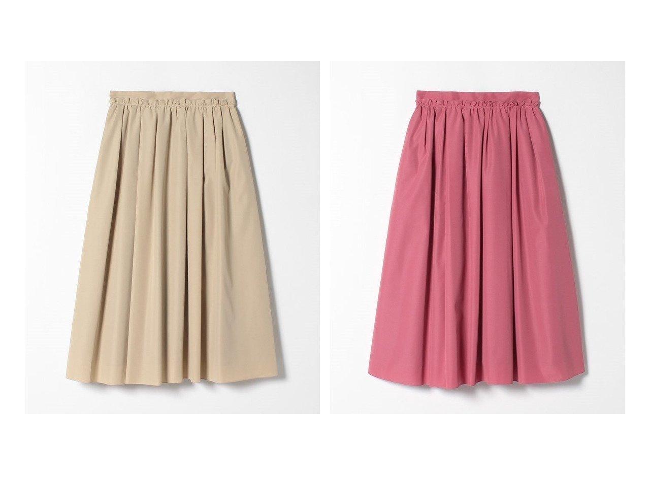 【LANVIN en Bleu/ランバン オン ブルー】のタックギャザースカート スカートのおすすめ!人気、レディースファッションの通販 おすすめで人気のファッション通販商品 インテリア・家具・キッズファッション・メンズファッション・レディースファッション・服の通販 founy(ファニー) https://founy.com/ ファッション Fashion レディース WOMEN スカート Skirt Aライン/フレアスカート Flared A-Line Skirts ウォッシャブル ギャザー グログラン フレア ベーシック ミモレ  ID:crp329100000003030