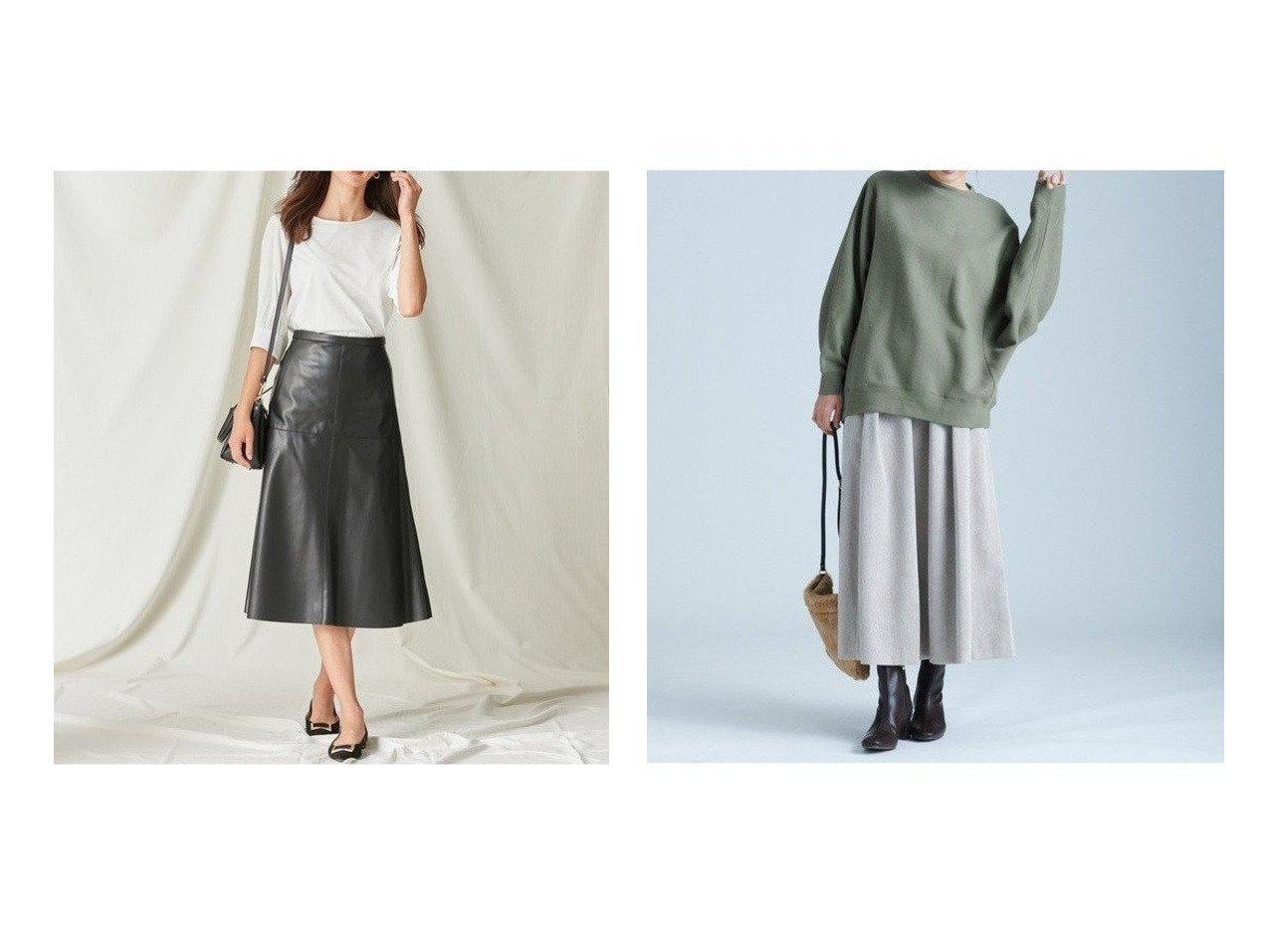 【any FAM/エニィファム】の【洗える】ワイドコーデュロイ スカート&【NIJYUSANKU/23区】のシンセティックレザースカート スカートのおすすめ!人気、レディースファッションの通販 おすすめで人気のファッション通販商品 インテリア・家具・キッズファッション・メンズファッション・レディースファッション・服の通販 founy(ファニー) https://founy.com/ ファッション Fashion レディース WOMEN スカート Skirt フェイクレザー フレア マーメイド リアル 冬 Winter コーデュロイ ストレッチ トレンド ワイド 今季 秋冬 A/W Autumn/ Winter  ID:crp329100000003032