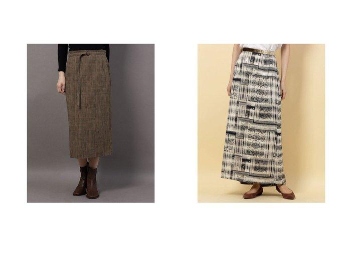 【Rename/リネーム】のグレンチェックタイトスカート&バックフレアアシンメトリースカート スカートのおすすめ!人気、レディースファッションの通販 おすすめファッション通販アイテム レディースファッション・服の通販 founy(ファニー) ファッション Fashion レディース WOMEN スカート Skirt シンプル プリント |ID:crp329100000003036