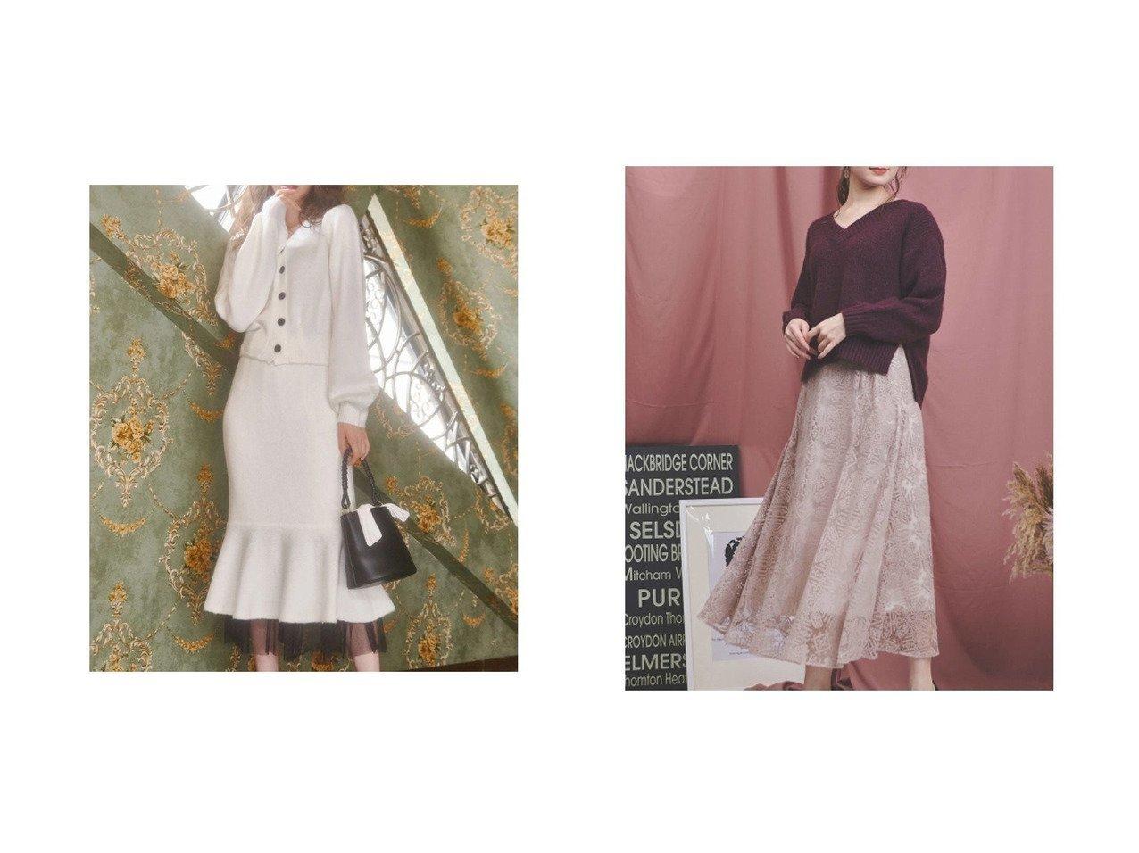 【Noela/ノエラ】のクロスステッチレーススカート&【MiiA/ミーア】のフェアリースカート スカートのおすすめ!人気、レディースファッションの通販 おすすめで人気のファッション通販商品 インテリア・家具・キッズファッション・メンズファッション・レディースファッション・服の通販 founy(ファニー) https://founy.com/ ファッション Fashion レディース WOMEN スカート Skirt アンティーク レース  ID:crp329100000003037