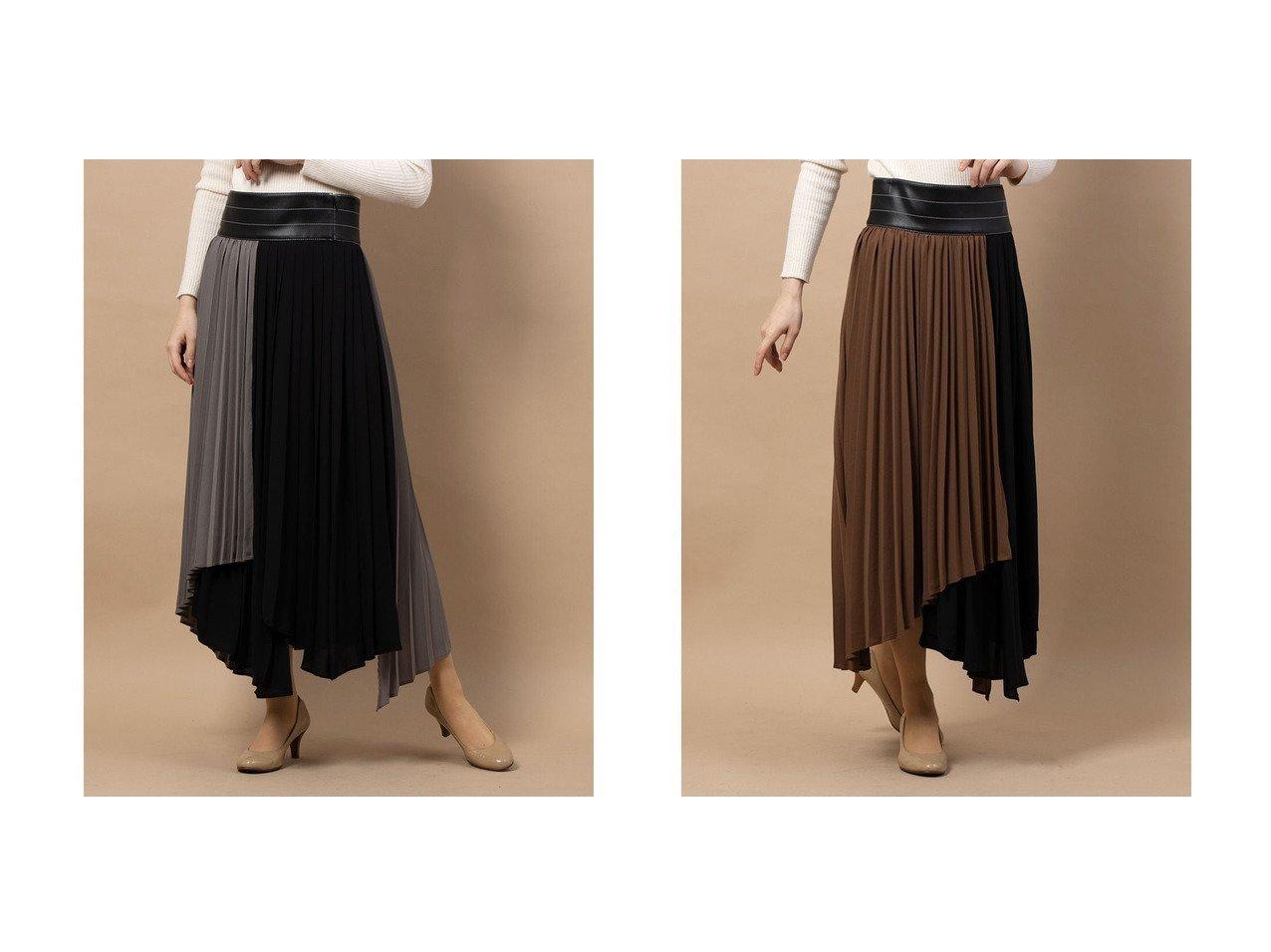 【FRAY I.D/フレイ アイディー】のプリーツバイカラースカート スカートのおすすめ!人気、レディースファッションの通販 おすすめで人気のファッション通販商品 インテリア・家具・キッズファッション・メンズファッション・レディースファッション・服の通販 founy(ファニー) https://founy.com/ ファッション Fashion レディース WOMEN スカート Skirt プリーツ  ID:crp329100000003038