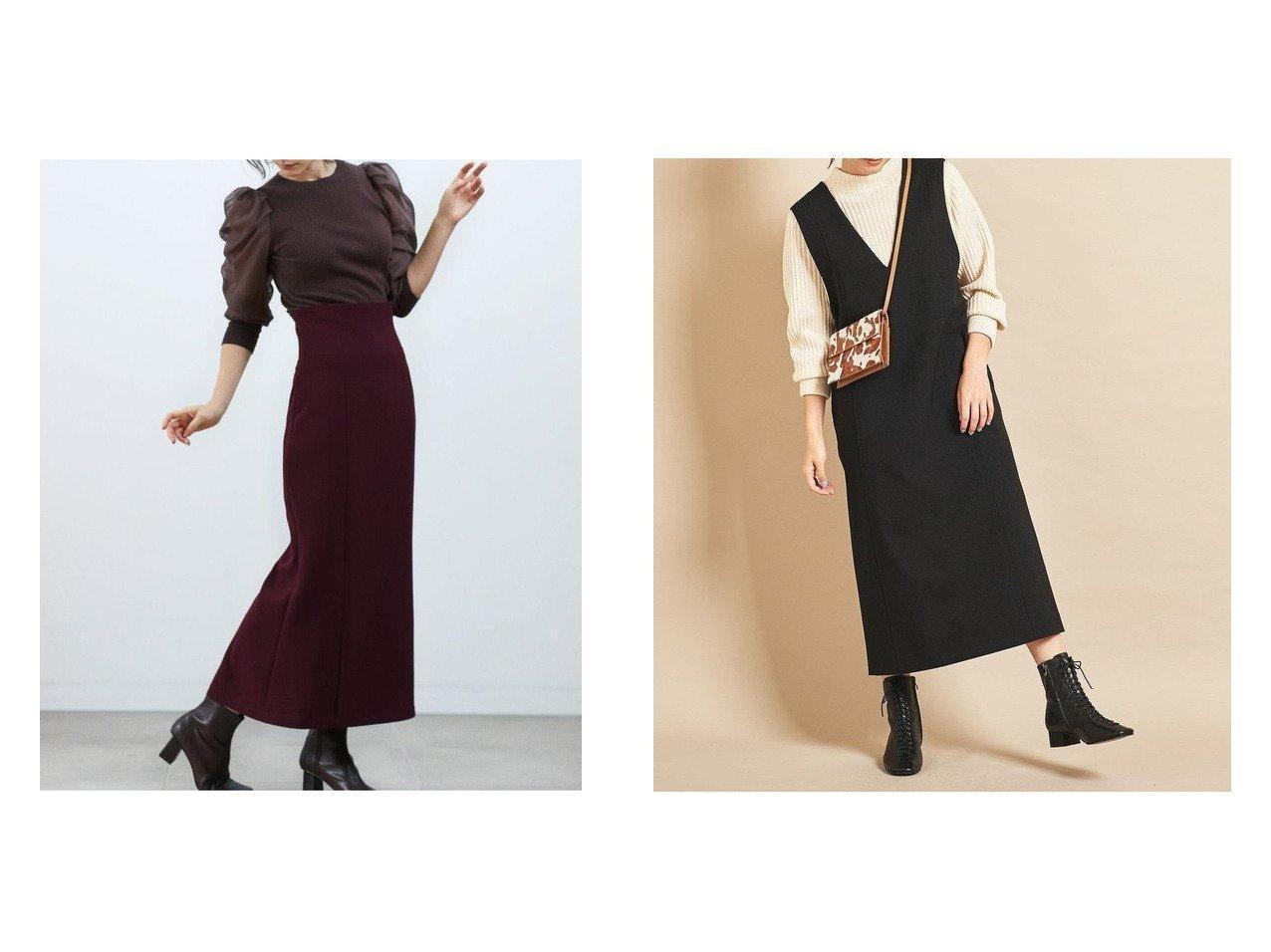 【BEAUTY&YOUTH UNITED ARROWS/ビューティアンド ユースユナイテッドアローズ】のBY Vネックジャンパースカート&【SNIDEL/スナイデル】のハイウエストナロースカート スカートのおすすめ!人気、レディースファッションの通販 おすすめで人気のファッション通販商品 インテリア・家具・キッズファッション・メンズファッション・レディースファッション・服の通販 founy(ファニー) https://founy.com/ ファッション Fashion レディース WOMEN スカート Skirt ロングスカート Long Skirt ワンピース Dress トレンド バランス ミドル ロング 今季 インナー シンプル スニーカー スマート 定番 ポケット  ID:crp329100000003041