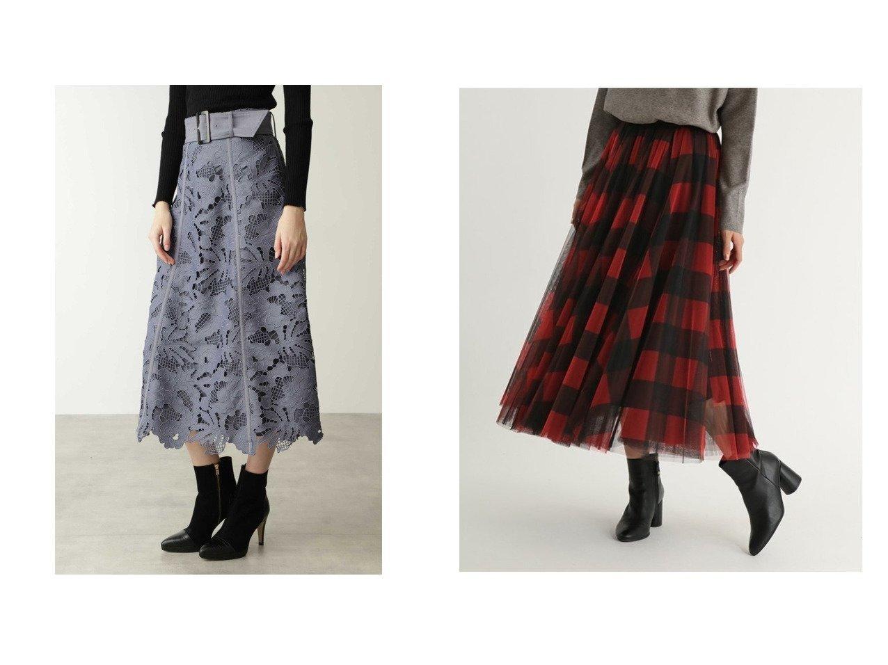 【Pinky&Dianne/ピンキーアンドダイアン】のフラワーケミカルレースフレアスカート&【SCOTCLUB/スコットクラブ】のブロックチェックチュールスカート スカートのおすすめ!人気、レディースファッションの通販 おすすめで人気のファッション通販商品 インテリア・家具・キッズファッション・メンズファッション・レディースファッション・服の通販 founy(ファニー) https://founy.com/ ファッション Fashion レディース WOMEN スカート Skirt Aライン/フレアスカート Flared A-Line Skirts ロングスカート Long Skirt ケミカル スマート フラワー フレア モチーフ レース コンパクト チェック ブロック ロング  ID:crp329100000003045