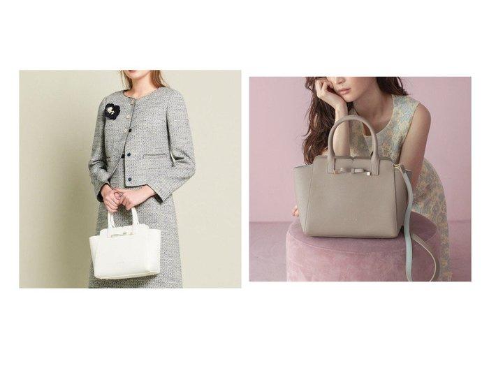 【TOCCA/トッカ】のTINY RIBBON LEATHER BAG レザーバッグ バッグのおすすめ!人気、レディースファッションの通販 おすすめファッション通販アイテム レディースファッション・服の通販 founy(ファニー) ファッション Fashion レディース WOMEN バッグ Bag ショルダー シンプル フォーマル リボン  ID:crp329100000003061