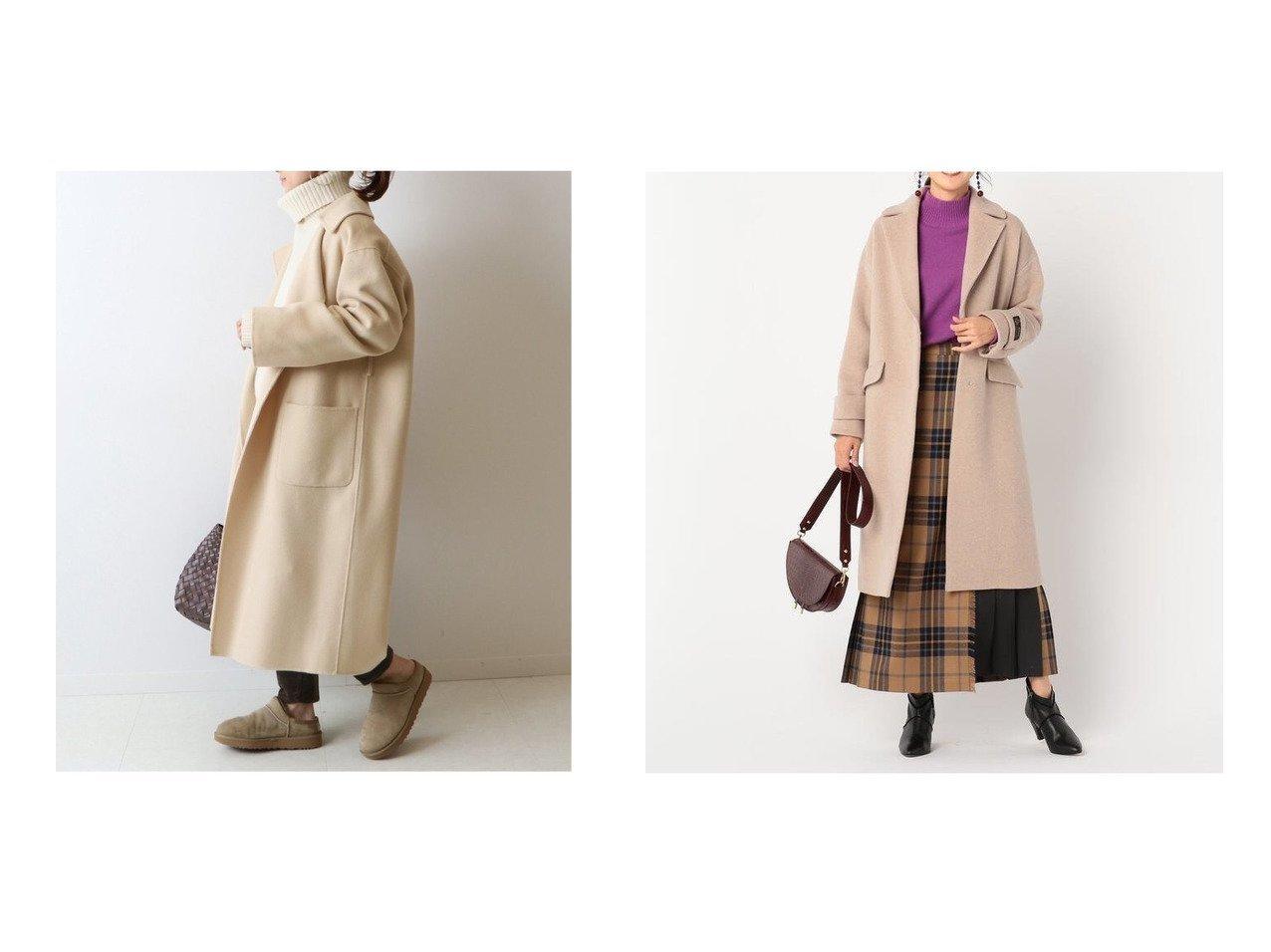 【NOLLEY'S/ノーリーズ】のコクーンチェスターコート&【FRAMeWORK/フレームワーク】のハミルトンリバーコート アウターのおすすめ!人気、レディースファッションの通販 おすすめで人気のファッション通販商品 インテリア・家具・キッズファッション・メンズファッション・レディースファッション・服の通販 founy(ファニー) https://founy.com/ ファッション Fashion レディース WOMEN アウター Coat Outerwear コート Coats チェスターコート Top Coat 秋冬 A/W Autumn/ Winter カシミヤ シンプル ハンド イタリア ストレッチ チェスターコート ロング  ID:crp329100000003072