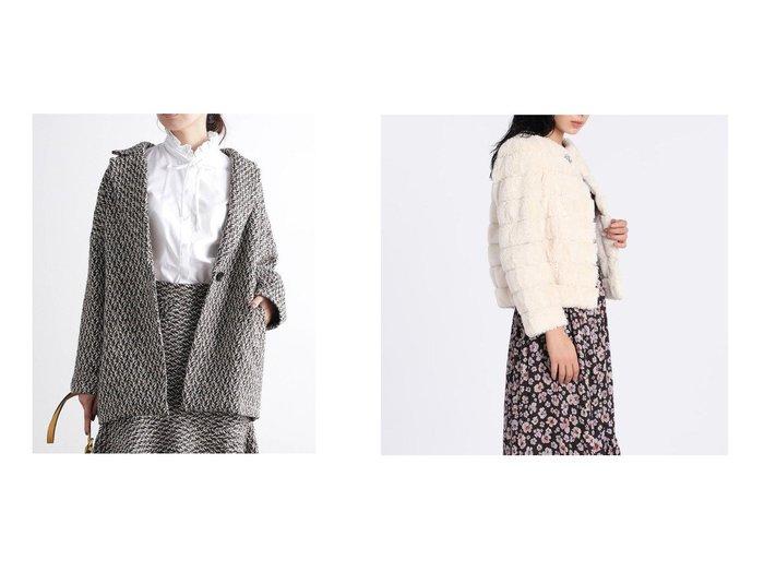 【VIS/ビス】の【セットアップ対応】ツイードヘリンボーンゆるジャケット&【ef-de/エフデ】の《Maglie par ef-de》エコファージャケット アウターのおすすめ!人気、レディースファッションの通販 おすすめファッション通販アイテム レディースファッション・服の通販 founy(ファニー) ファッション Fashion レディース WOMEN アウター Coat Outerwear ジャケット Jackets テーラードジャケット Tailored Jackets コート Coats クラシカル ジャケット セットアップ ツイード 冬 Winter バランス ブローチ ラグジュアリー |ID:crp329100000003077